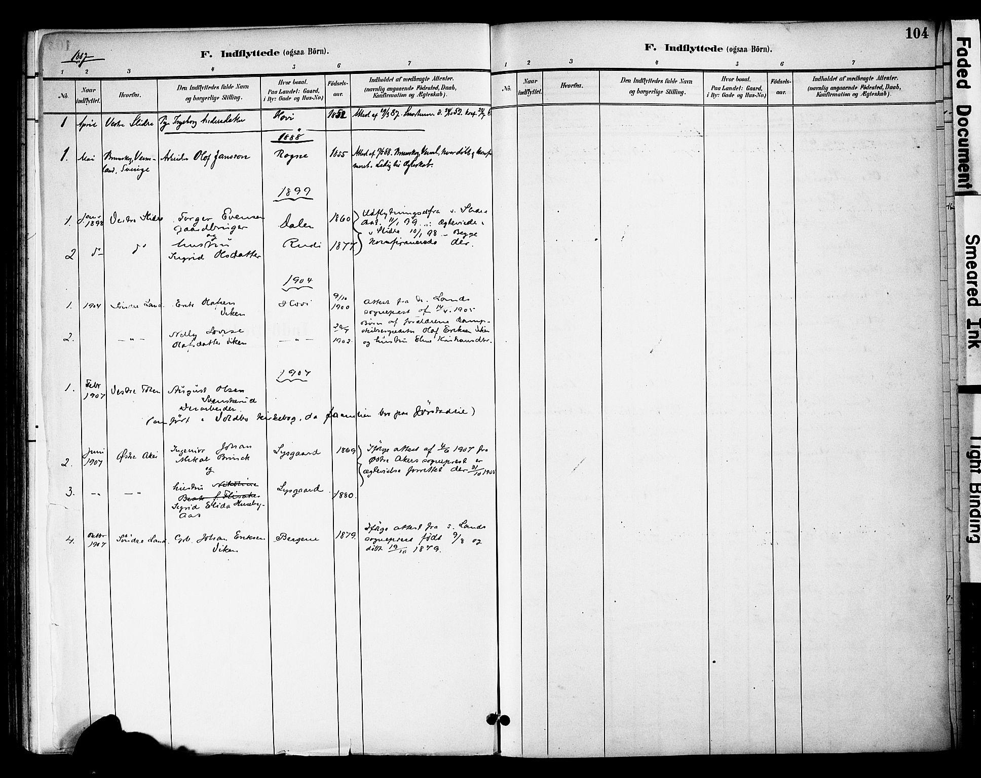 SAH, Øystre Slidre prestekontor, Ministerialbok nr. 3, 1887-1910, s. 104