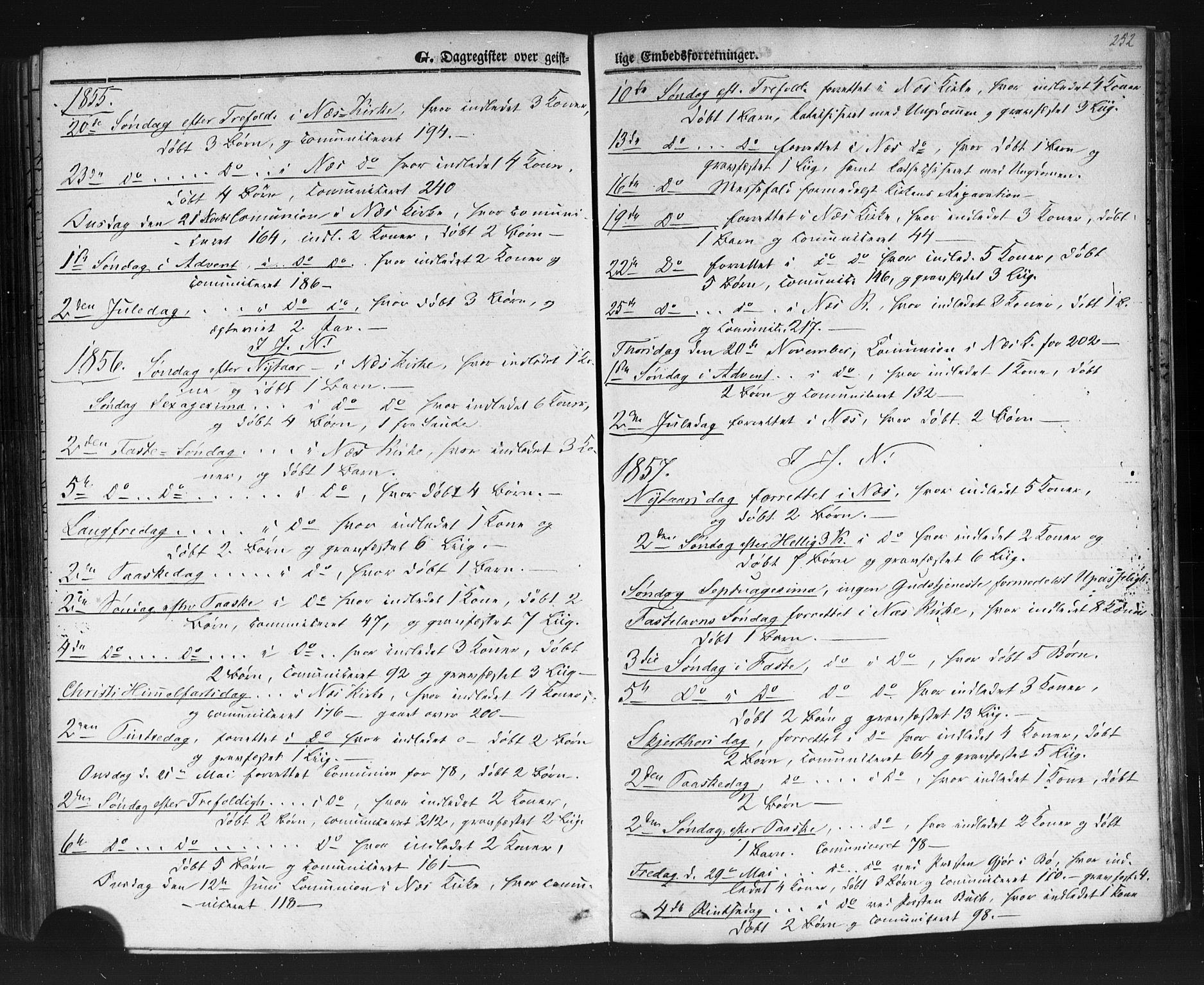 SAKO, Sauherad kirkebøker, F/Fb/L0001: Ministerialbok nr. II 1, 1851-1877, s. 252