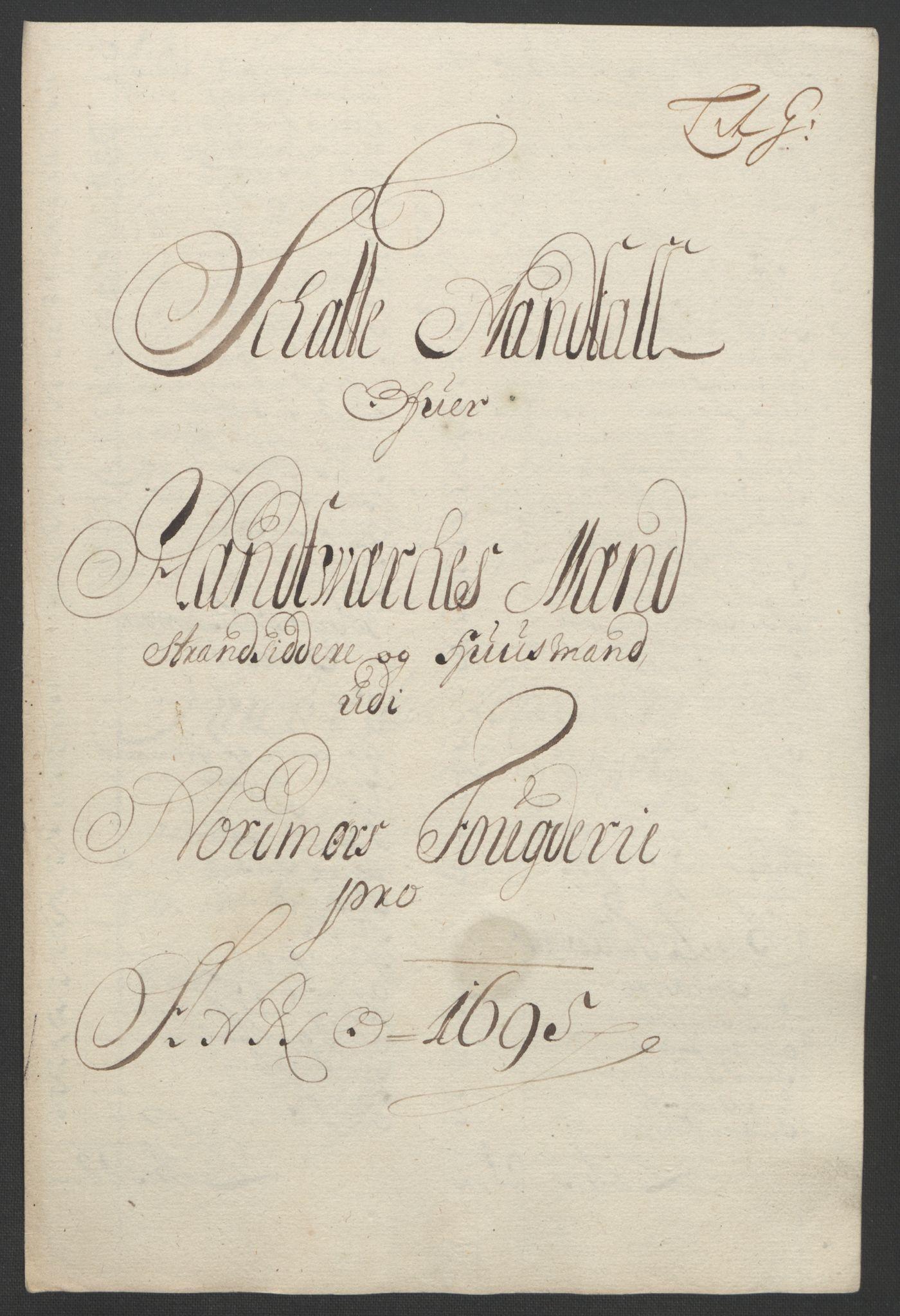 RA, Rentekammeret inntil 1814, Reviderte regnskaper, Fogderegnskap, R56/L3736: Fogderegnskap Nordmøre, 1694-1696, s. 274