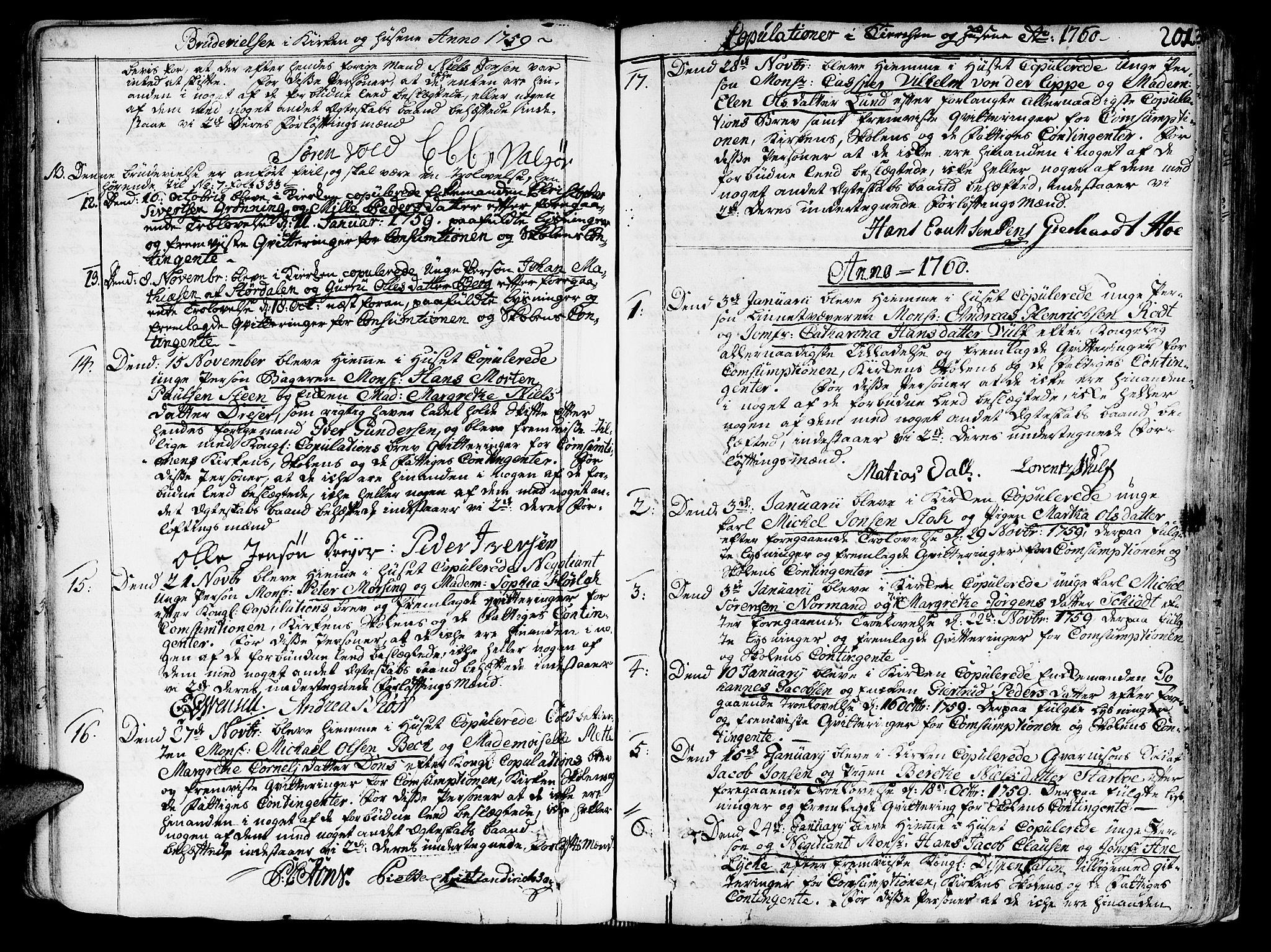 SAT, Ministerialprotokoller, klokkerbøker og fødselsregistre - Sør-Trøndelag, 602/L0103: Ministerialbok nr. 602A01, 1732-1774, s. 201