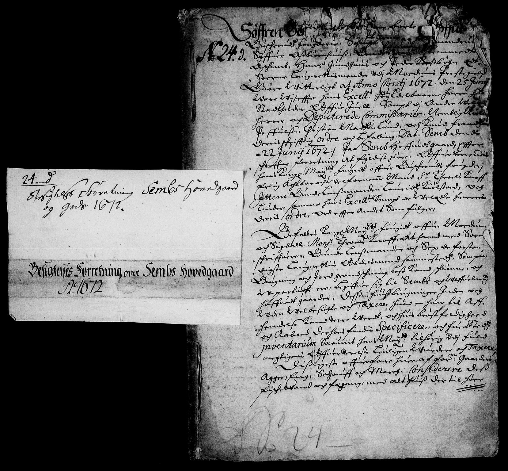 RA, Rentekammeret inntil 1814, Realistisk ordnet avdeling, On/L0013: [Jj 14]: Forskjellige dokumenter om krongodset i Norge, 1672-1722, s. 2