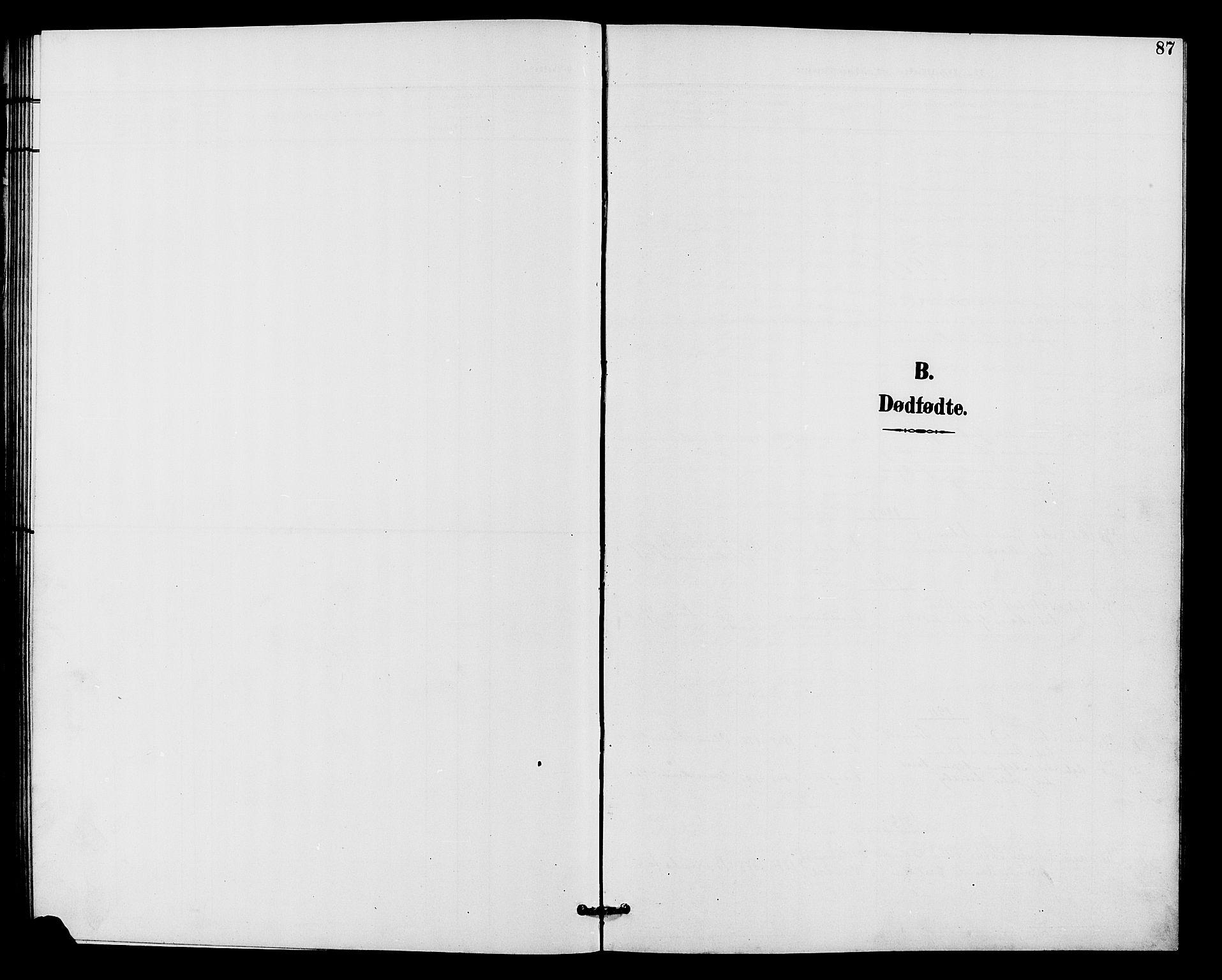 SAH, Vardal prestekontor, H/Ha/Hab/L0011: Klokkerbok nr. 11, 1899-1913, s. 87