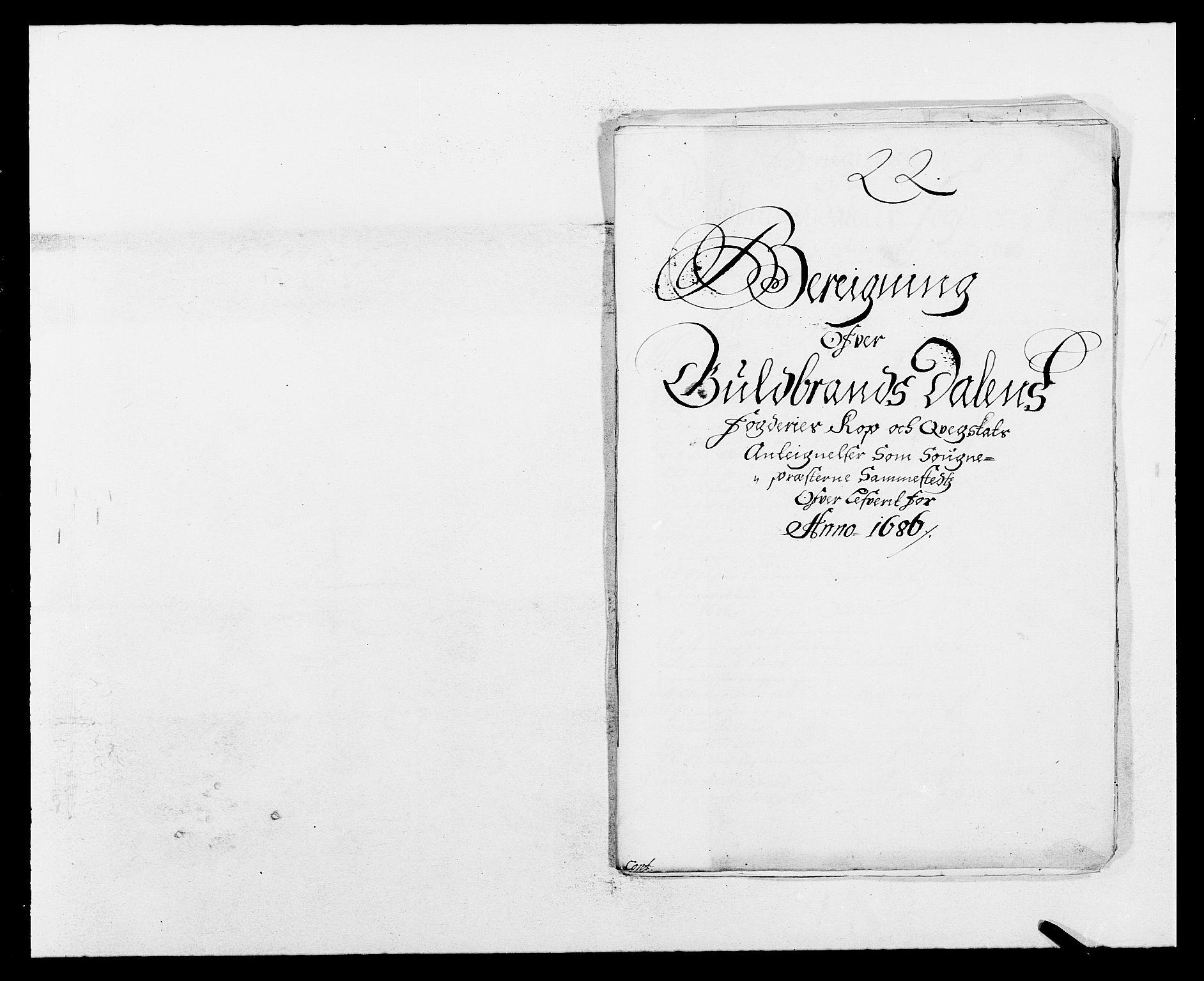 RA, Rentekammeret inntil 1814, Reviderte regnskaper, Fogderegnskap, R17/L1161: Fogderegnskap Gudbrandsdal, 1682-1689, s. 255