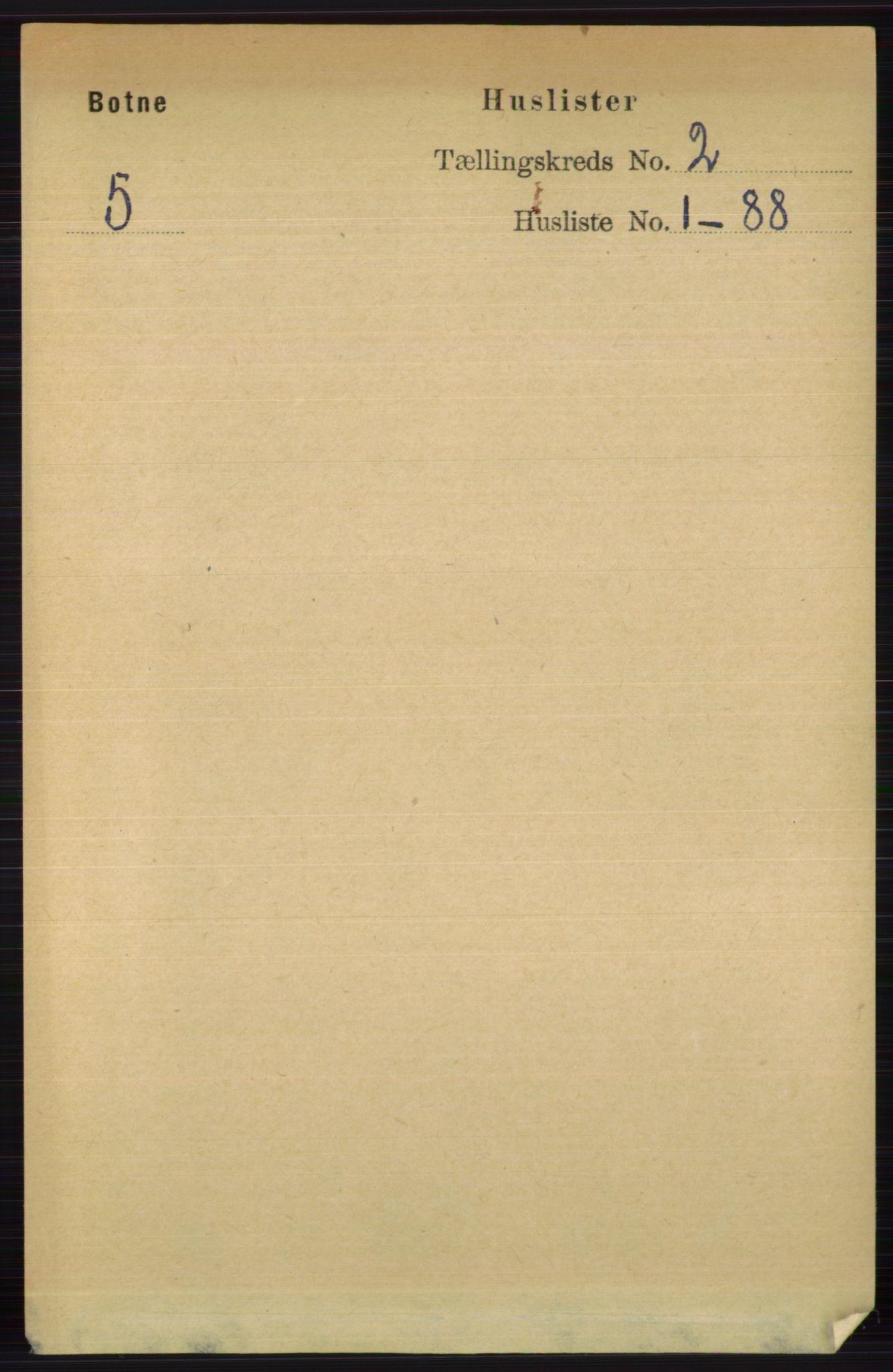 RA, Folketelling 1891 for 0715 Botne herred, 1891, s. 583