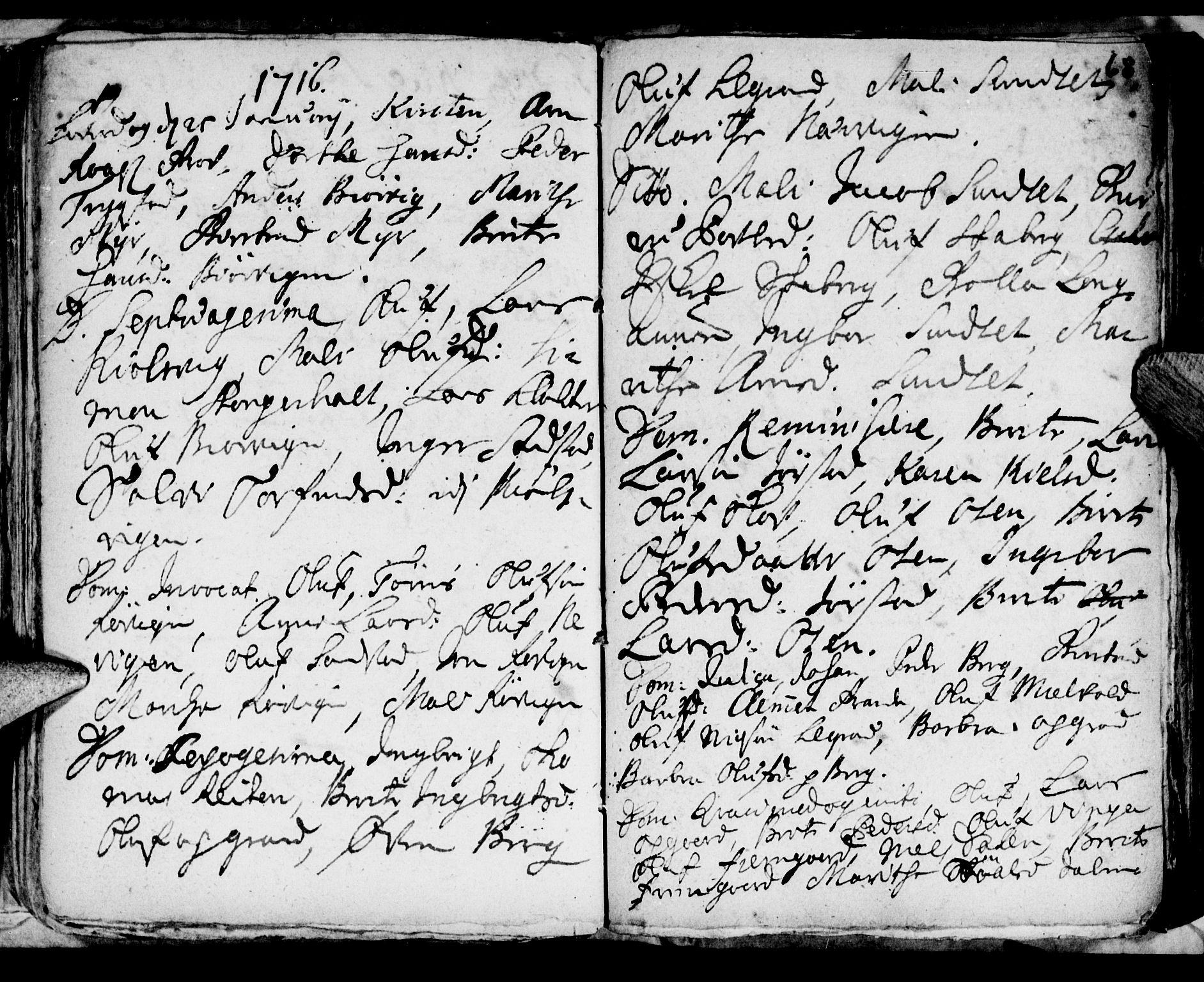 SAT, Ministerialprotokoller, klokkerbøker og fødselsregistre - Nord-Trøndelag, 722/L0214: Ministerialbok nr. 722A01, 1692-1718, s. 68