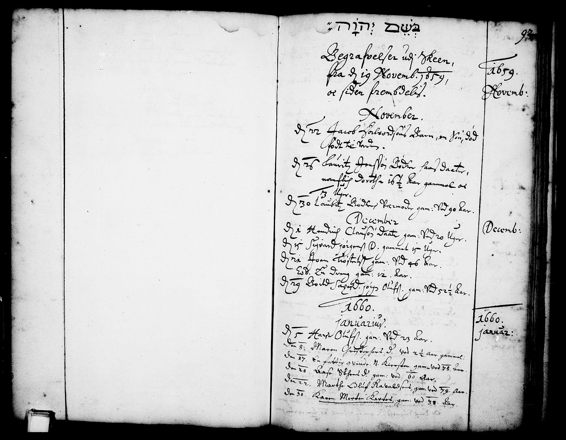 SAKO, Skien kirkebøker, F/Fa/L0001: Ministerialbok nr. 1, 1659-1679, s. 92