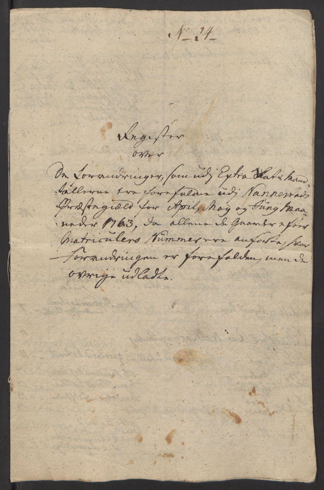 RA, Rentekammeret inntil 1814, Reviderte regnskaper, Fogderegnskap, R12/L0803: Ekstraskatten Øvre Romerike, 1763-1764, s. 126