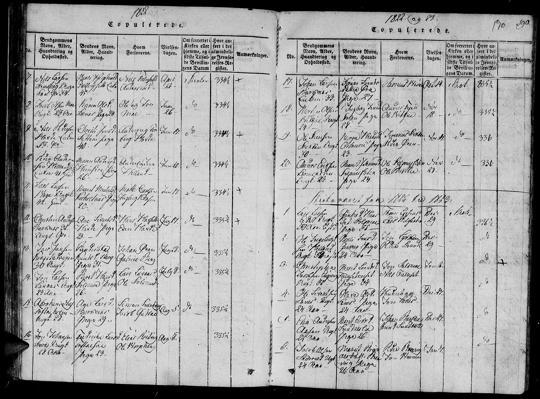 SAT, Ministerialprotokoller, klokkerbøker og fødselsregistre - Sør-Trøndelag, 630/L0491: Ministerialbok nr. 630A04, 1818-1830, s. 190
