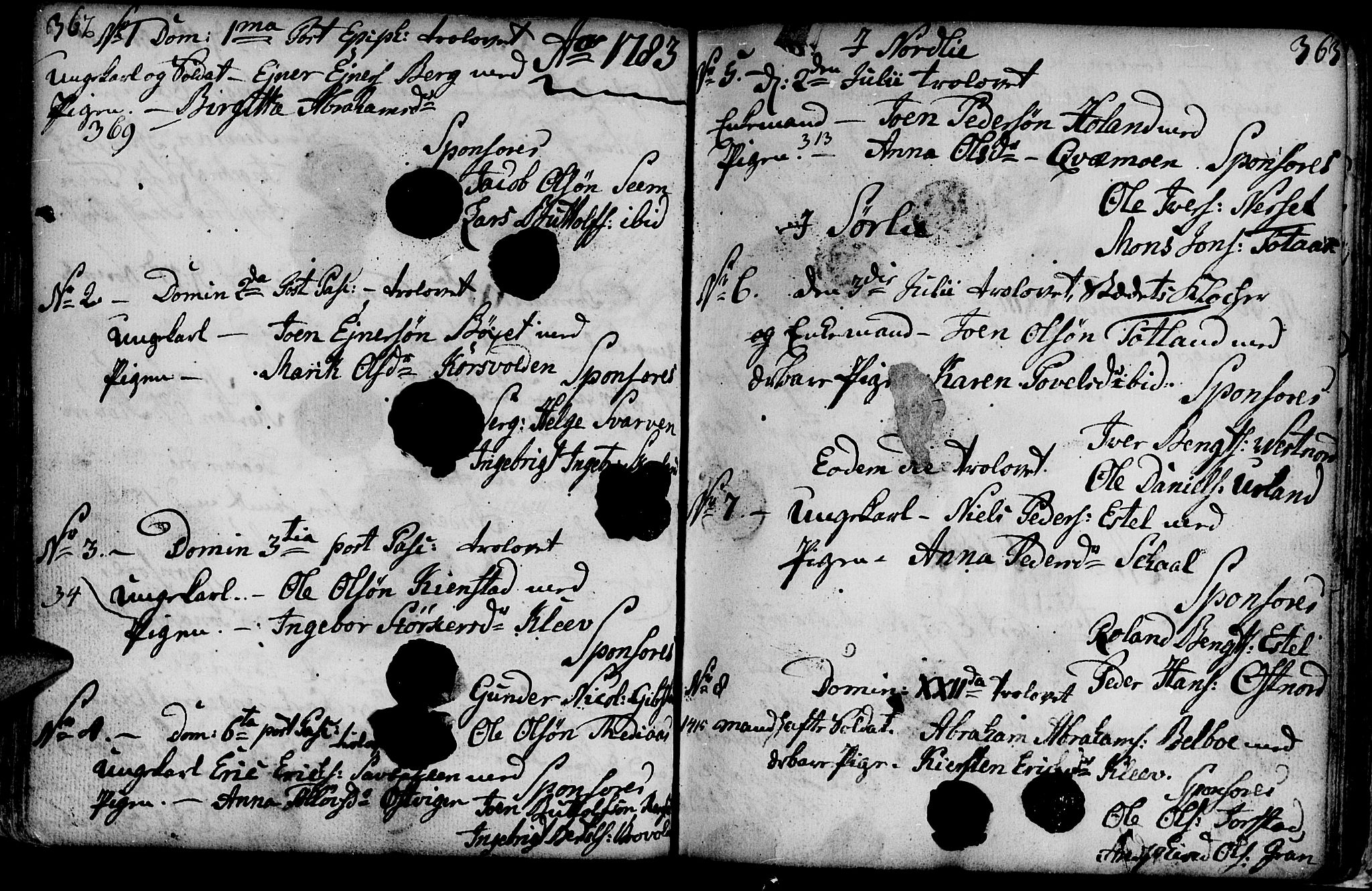 SAT, Ministerialprotokoller, klokkerbøker og fødselsregistre - Nord-Trøndelag, 749/L0467: Ministerialbok nr. 749A01, 1733-1787, s. 362-363