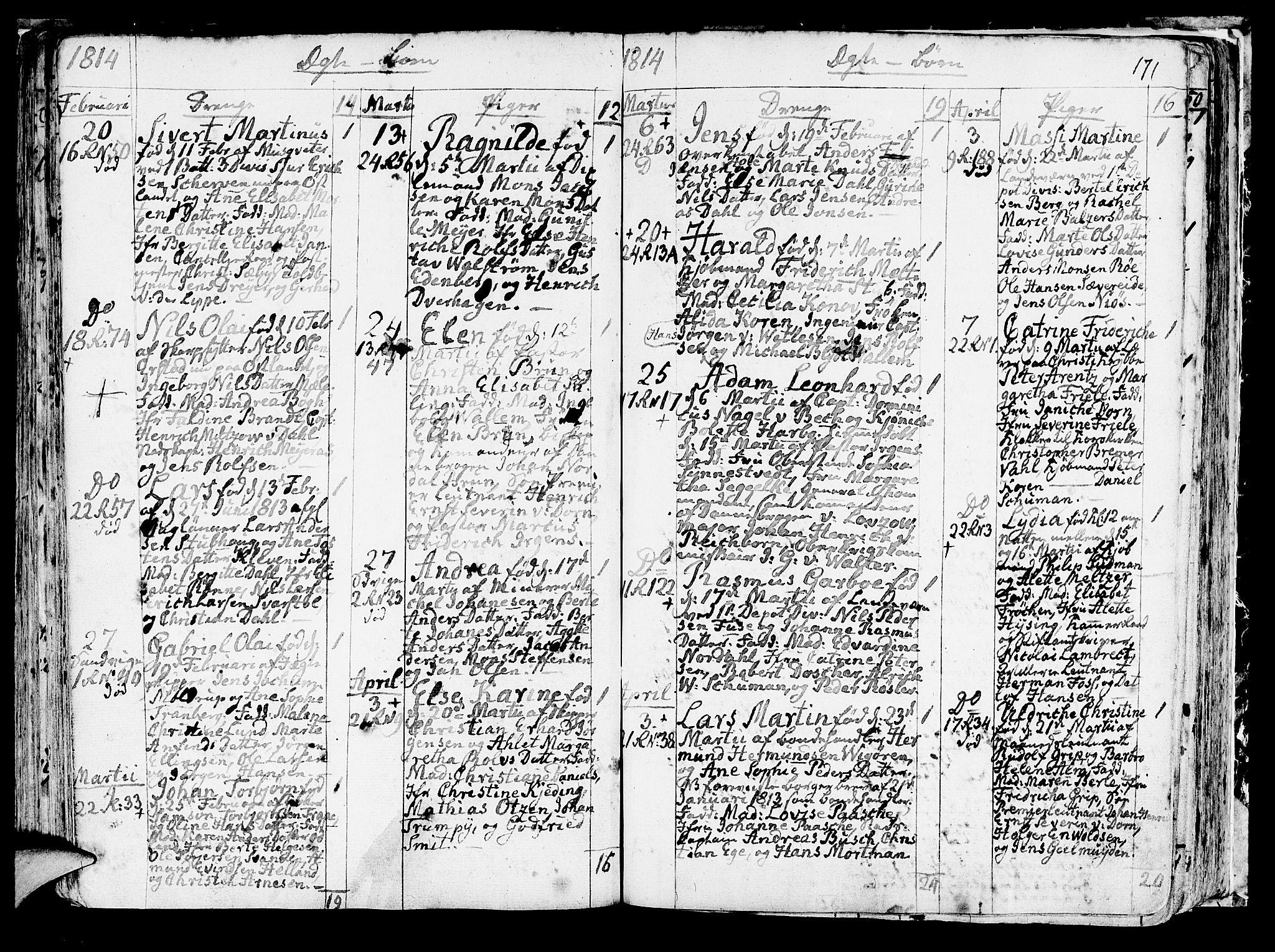 SAB, Korskirken Sokneprestembete, H/Haa/L0006: Ministerialbok nr. A 6, 1790-1820, s. 171