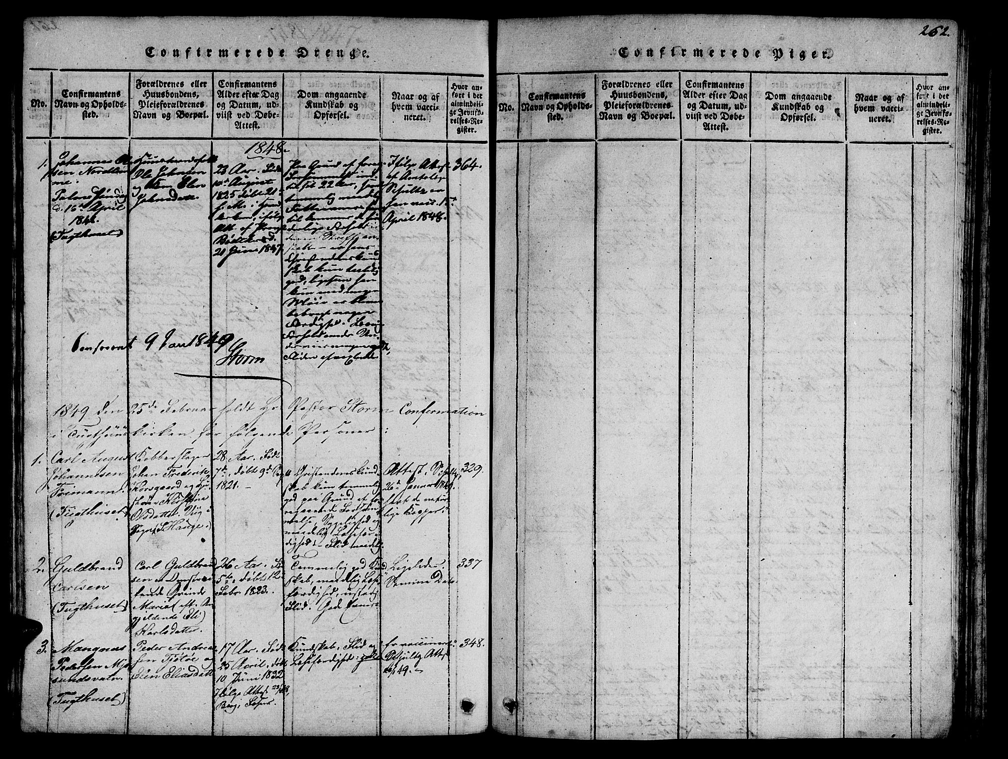 SAT, Ministerialprotokoller, klokkerbøker og fødselsregistre - Sør-Trøndelag, 623/L0478: Klokkerbok nr. 623C01, 1815-1873, s. 262