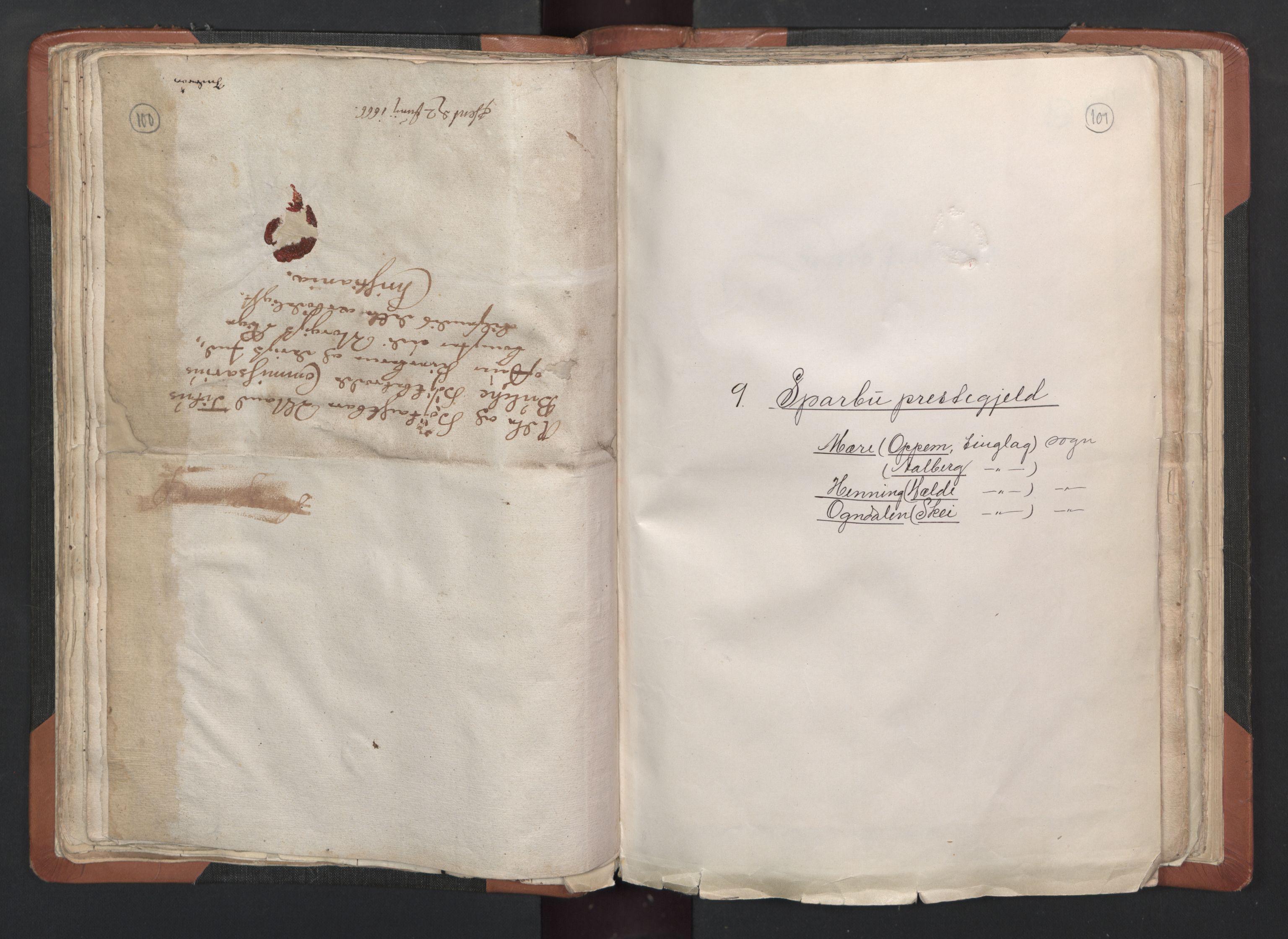 RA, Sogneprestenes manntall 1664-1666, nr. 33: Innherad prosti, 1664-1666, s. 100-101