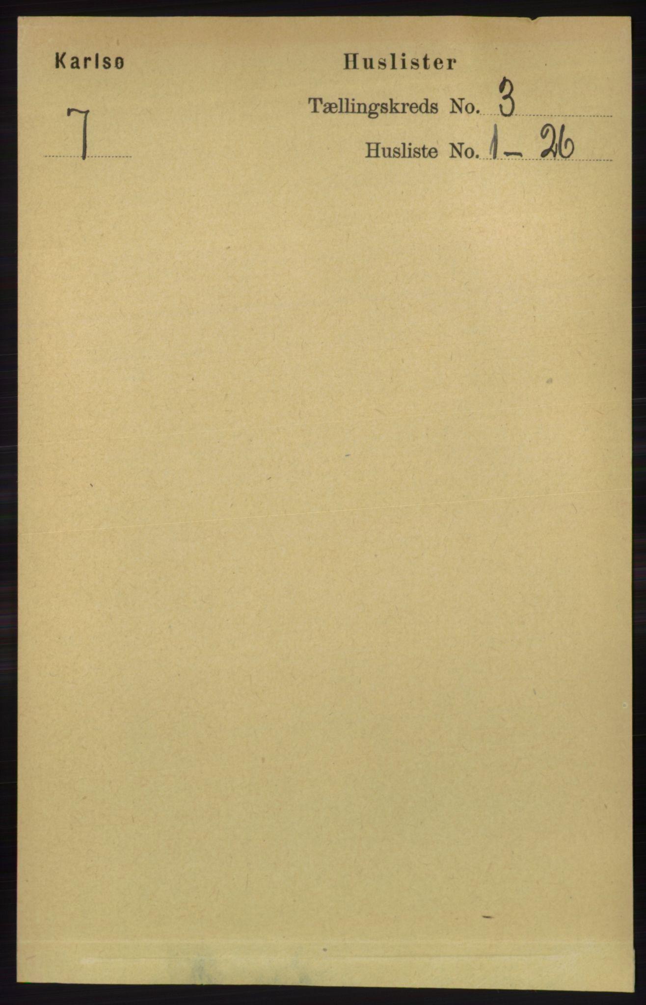 RA, Folketelling 1891 for 1936 Karlsøy herred, 1891, s. 579