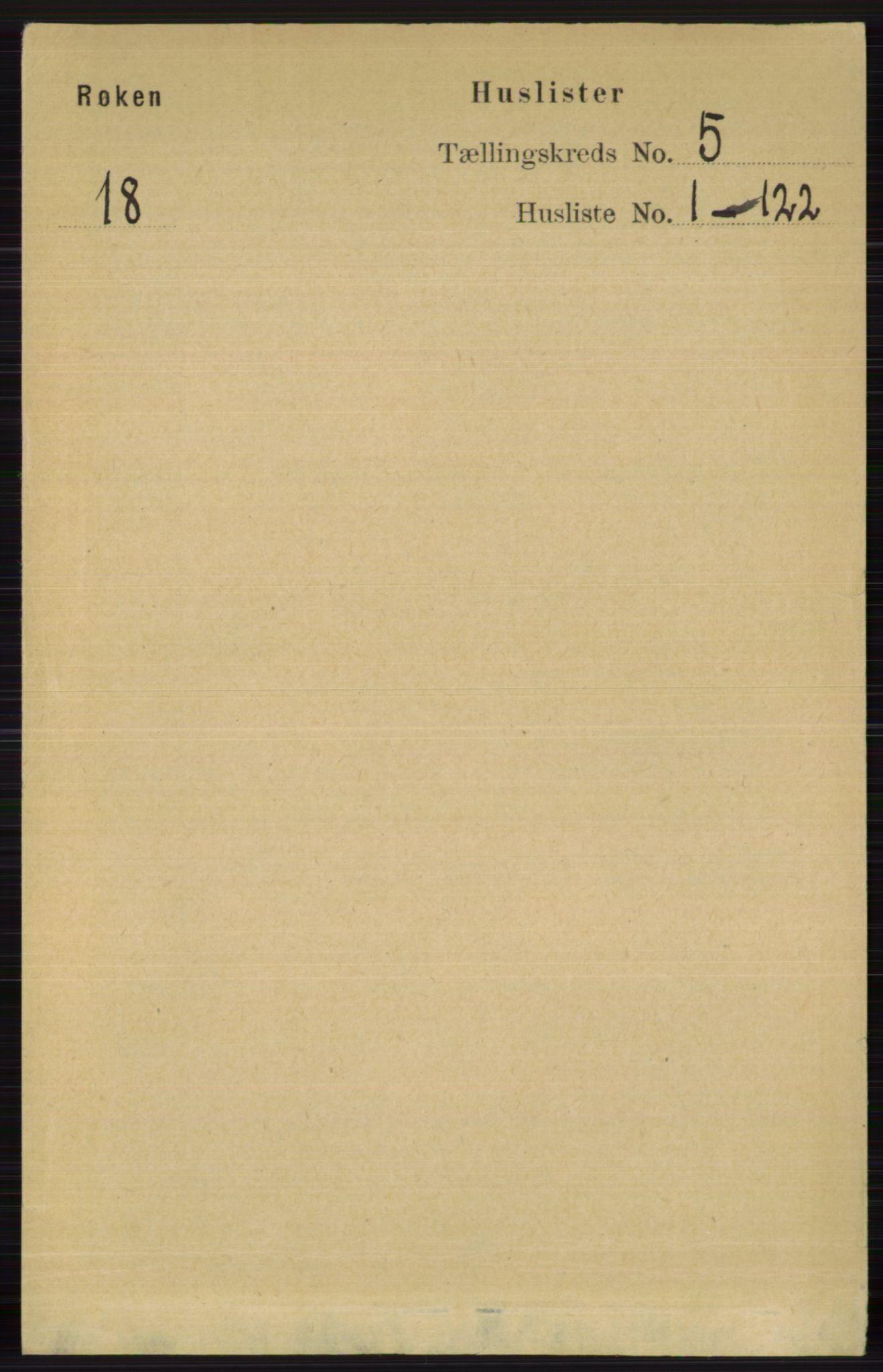RA, Folketelling 1891 for 0627 Røyken herred, 1891, s. 2764