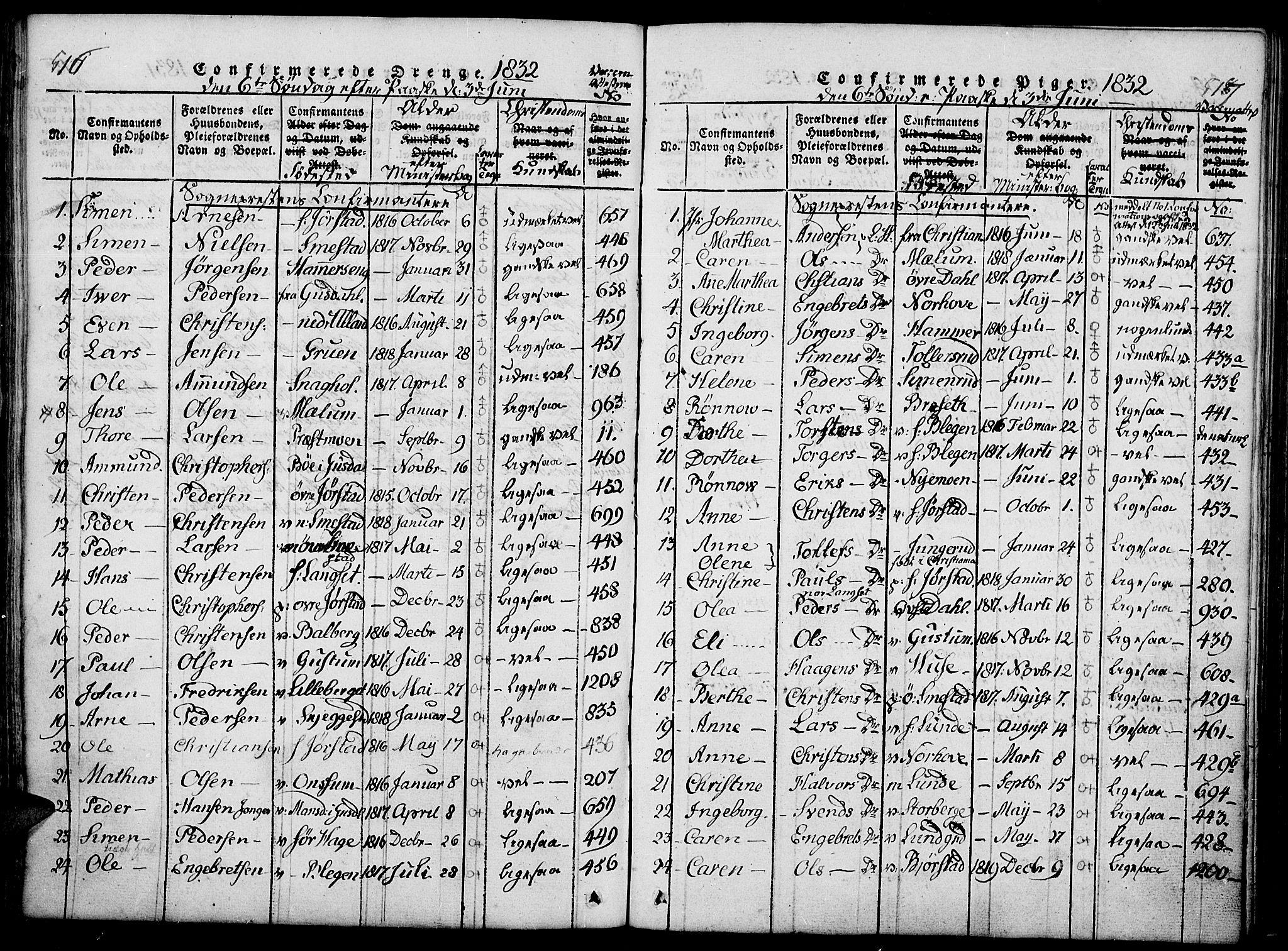 SAH, Fåberg prestekontor, Ministerialbok nr. 3, 1818-1833, s. 516-517