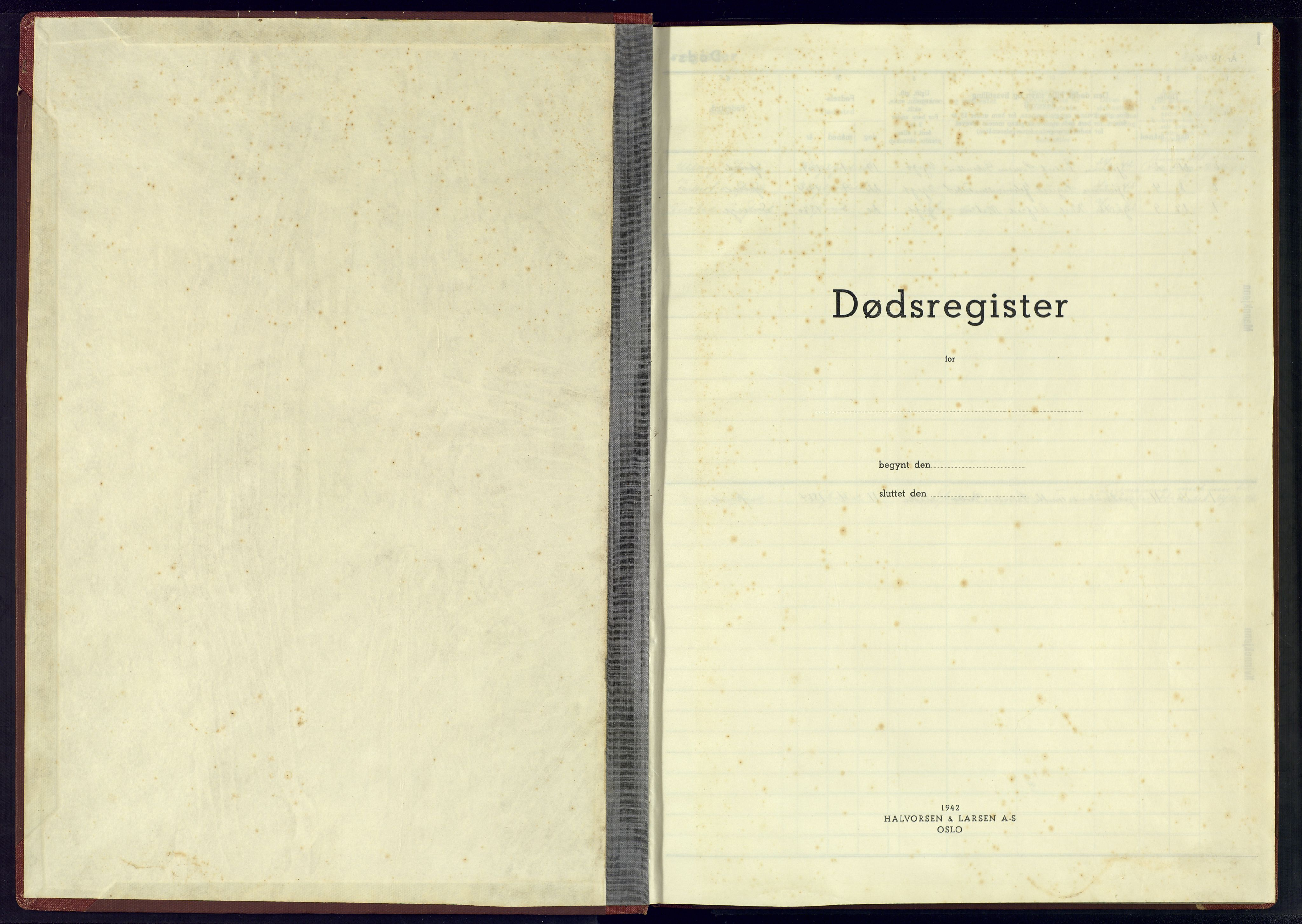 SAK, Herad sokneprestkontor, J/Jb/L0006: A-VI-7 - Dødsfallsregister Spind sogn, 1942-1945