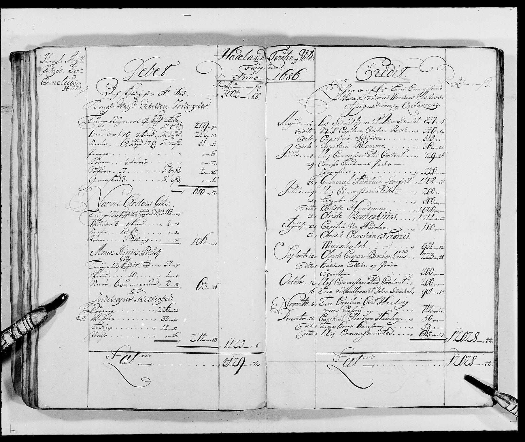 RA, Rentekammeret inntil 1814, Reviderte regnskaper, Fogderegnskap, R18/L1287: Fogderegnskap Hadeland, Toten og Valdres, 1688, s. 122