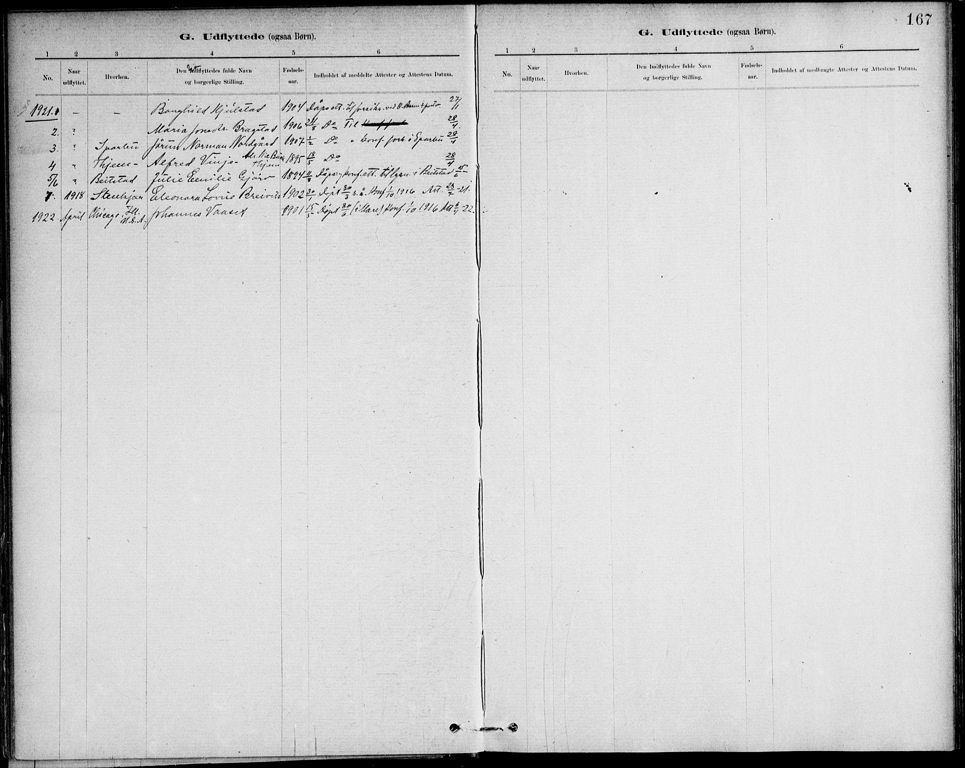 SAT, Ministerialprotokoller, klokkerbøker og fødselsregistre - Nord-Trøndelag, 732/L0316: Ministerialbok nr. 732A01, 1879-1921, s. 167