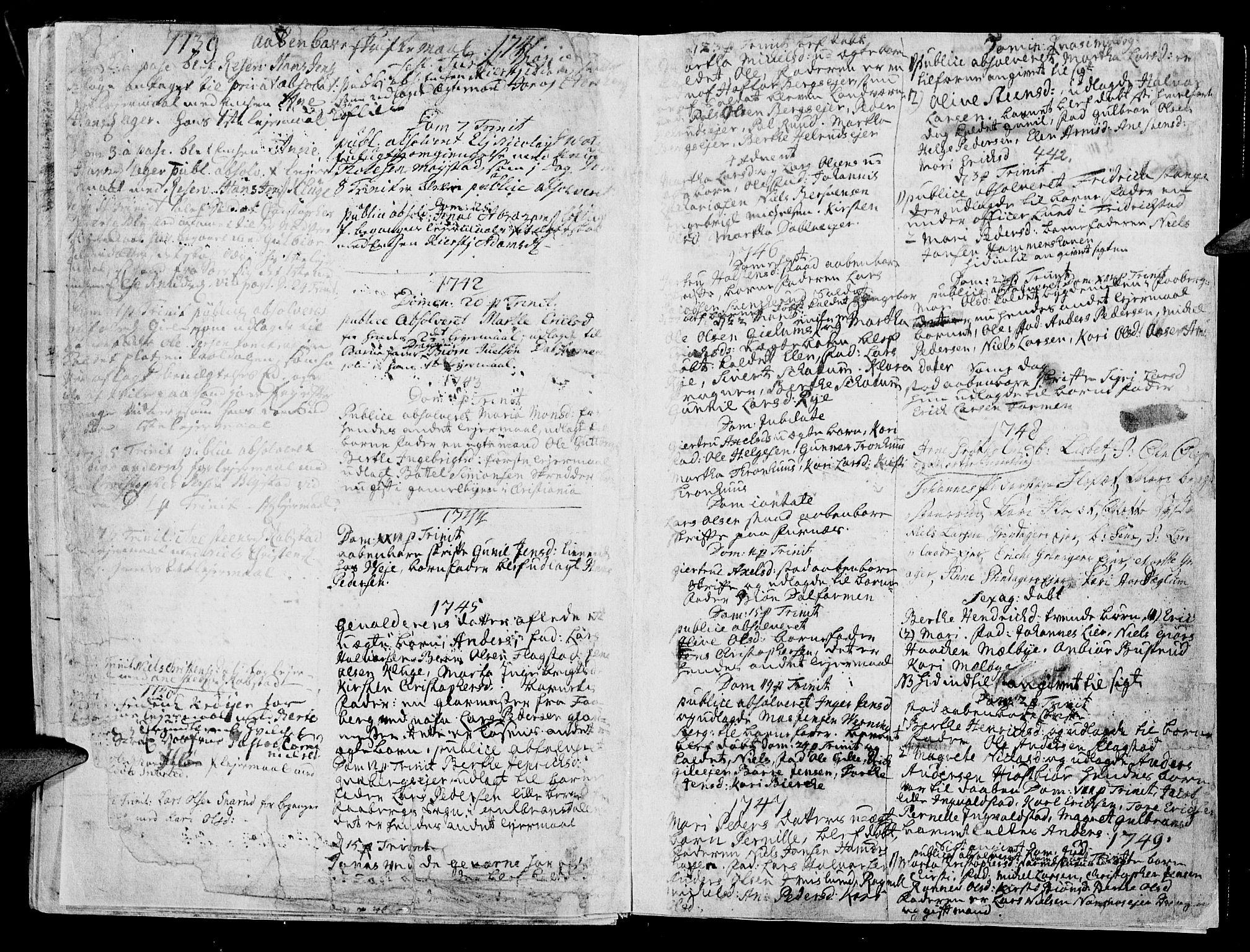 SAH, Vang prestekontor, Hedmark, H/Ha/Haa/L0003: Ministerialbok nr. 3, 1734-1809, s. 442