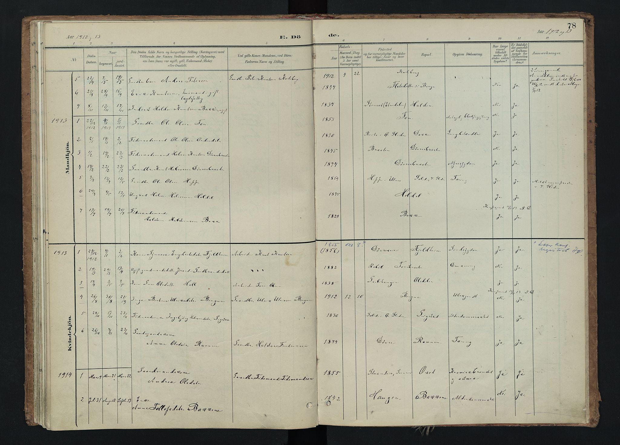 SAH, Nord-Aurdal prestekontor, Ministerialbok nr. 15, 1896-1914, s. 78