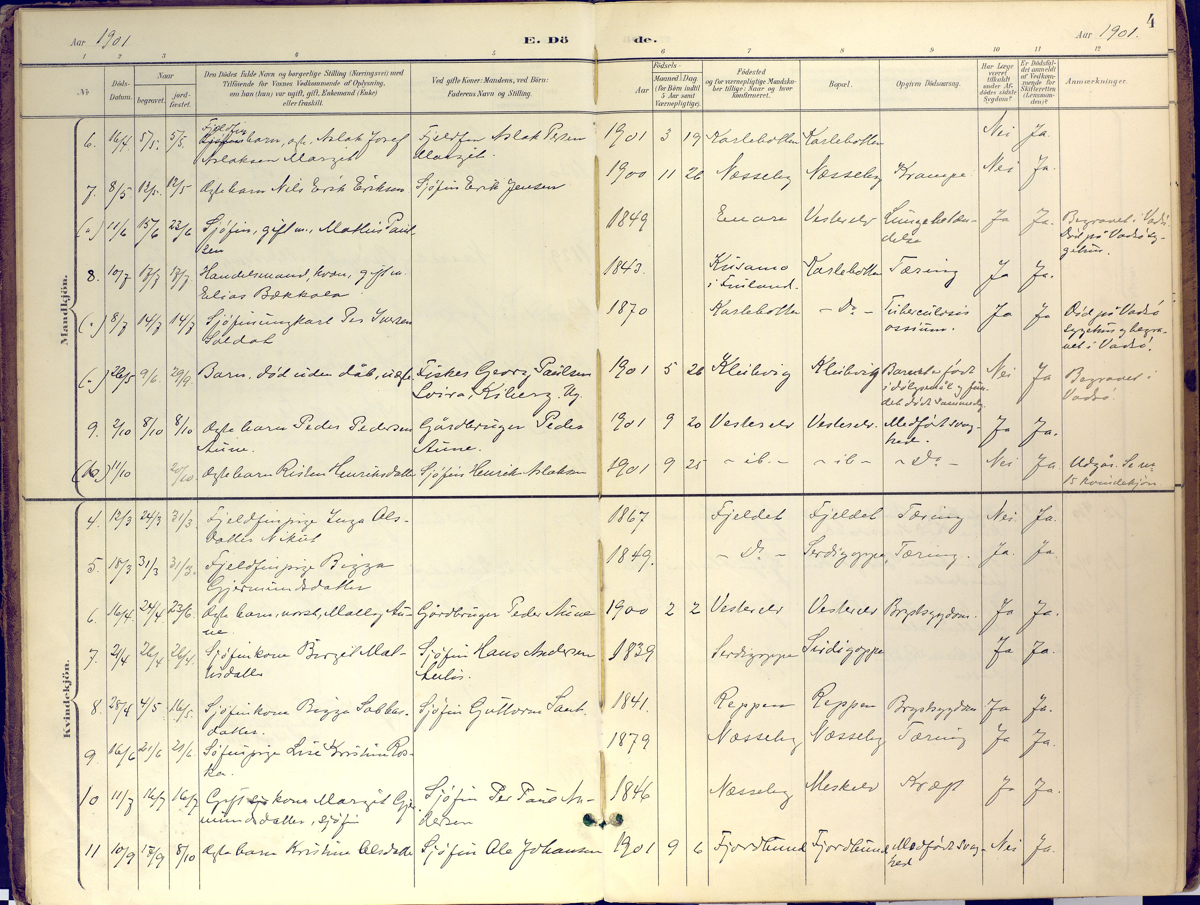 SATØ, Nesseby sokneprestkontor, H/Ha/L0007kirke: Ministerialbok nr. 7, 1898-1921, s. 4
