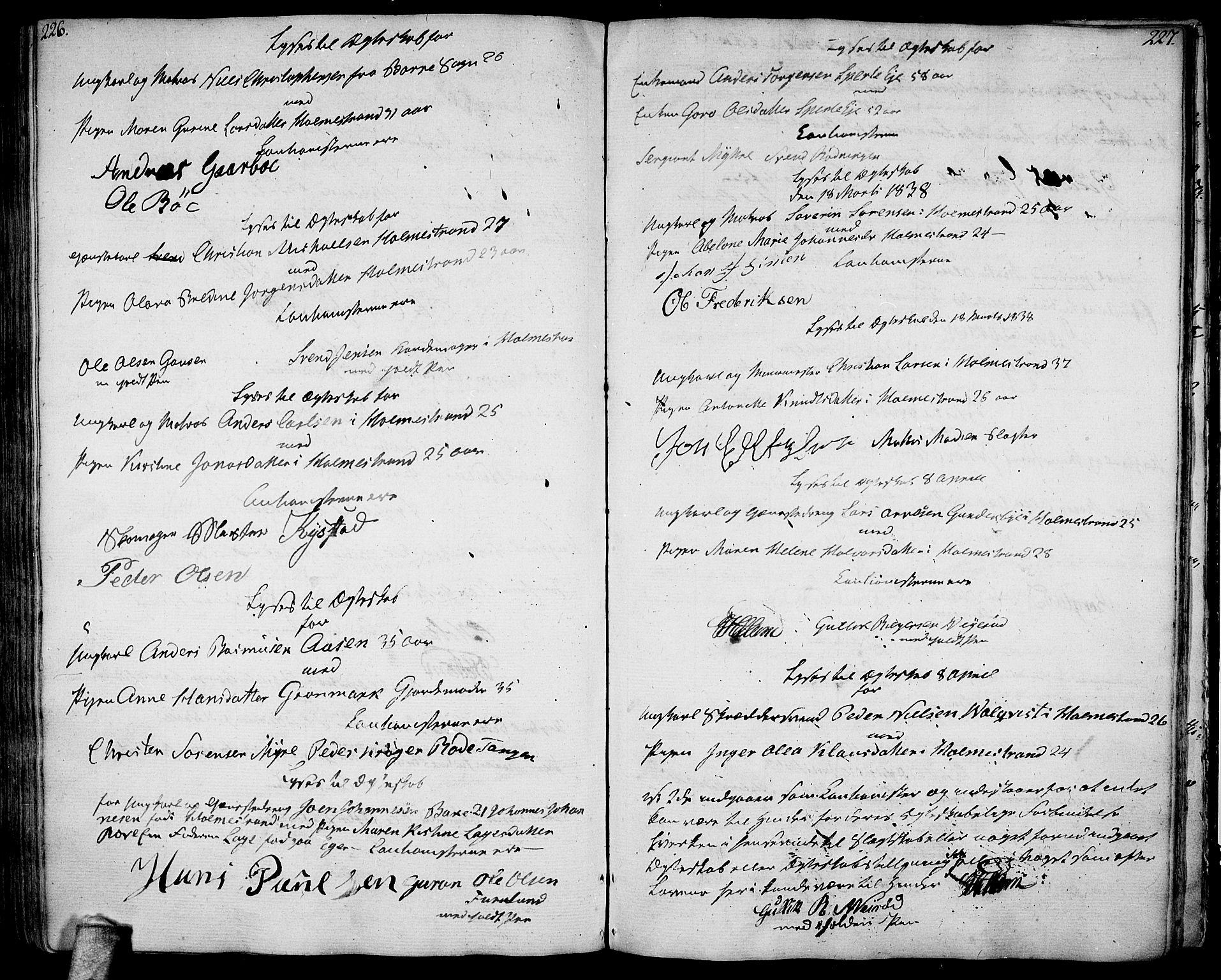 SAKO, Botne kirkebøker, F/Fa/L0003: Ministerialbok nr. I 3 /1, 1792-1844, s. 226-227