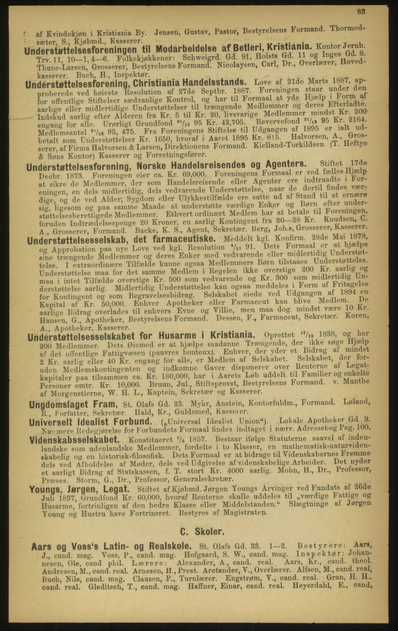 PUBL, Kristiania/Oslo adressebok, 1897, s. 83