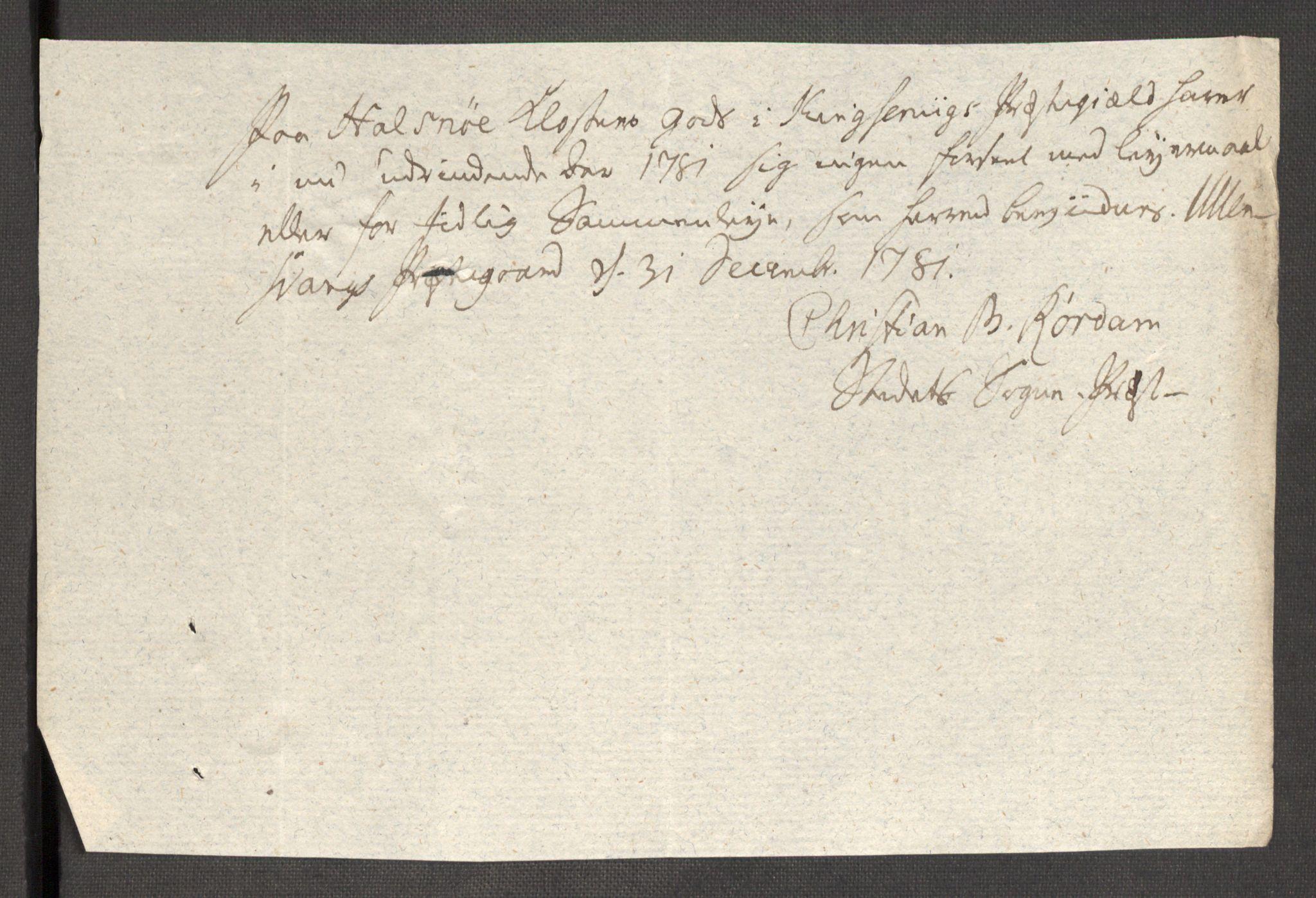 RA, Rentekammeret inntil 1814, Reviderte regnskaper, Fogderegnskap, R48/L3097: Fogderegnskap Sunnhordland og Hardanger, 1781, s. 306