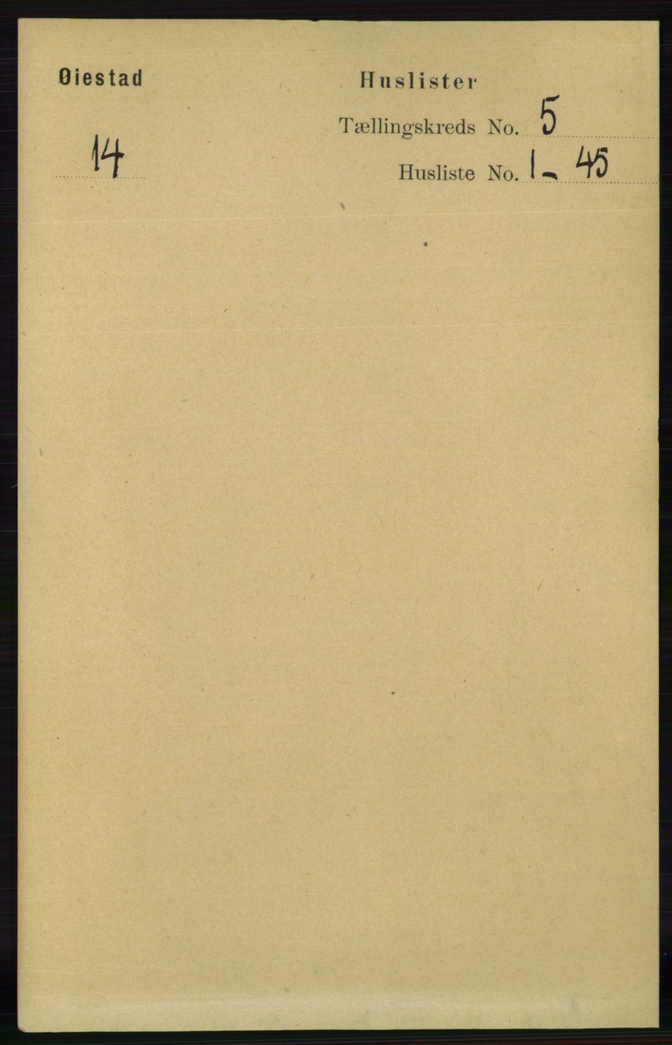 RA, Folketelling 1891 for 0920 Øyestad herred, 1891, s. 1761