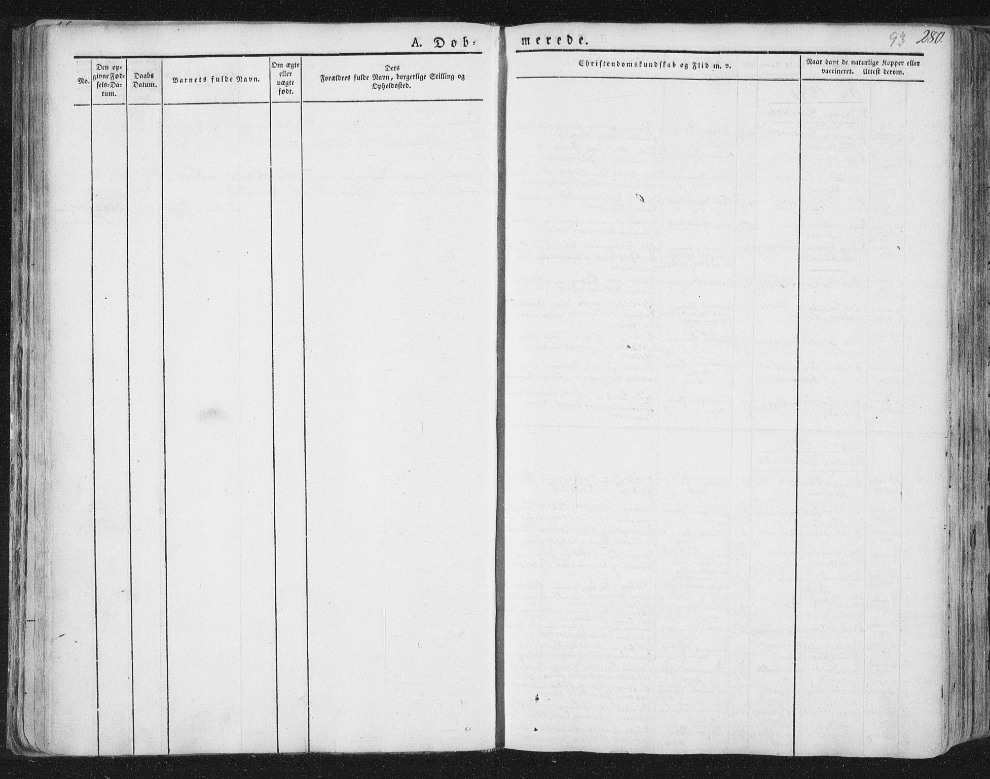 SAT, Ministerialprotokoller, klokkerbøker og fødselsregistre - Nord-Trøndelag, 758/L0513: Ministerialbok nr. 758A02 /3, 1839-1868, s. 93