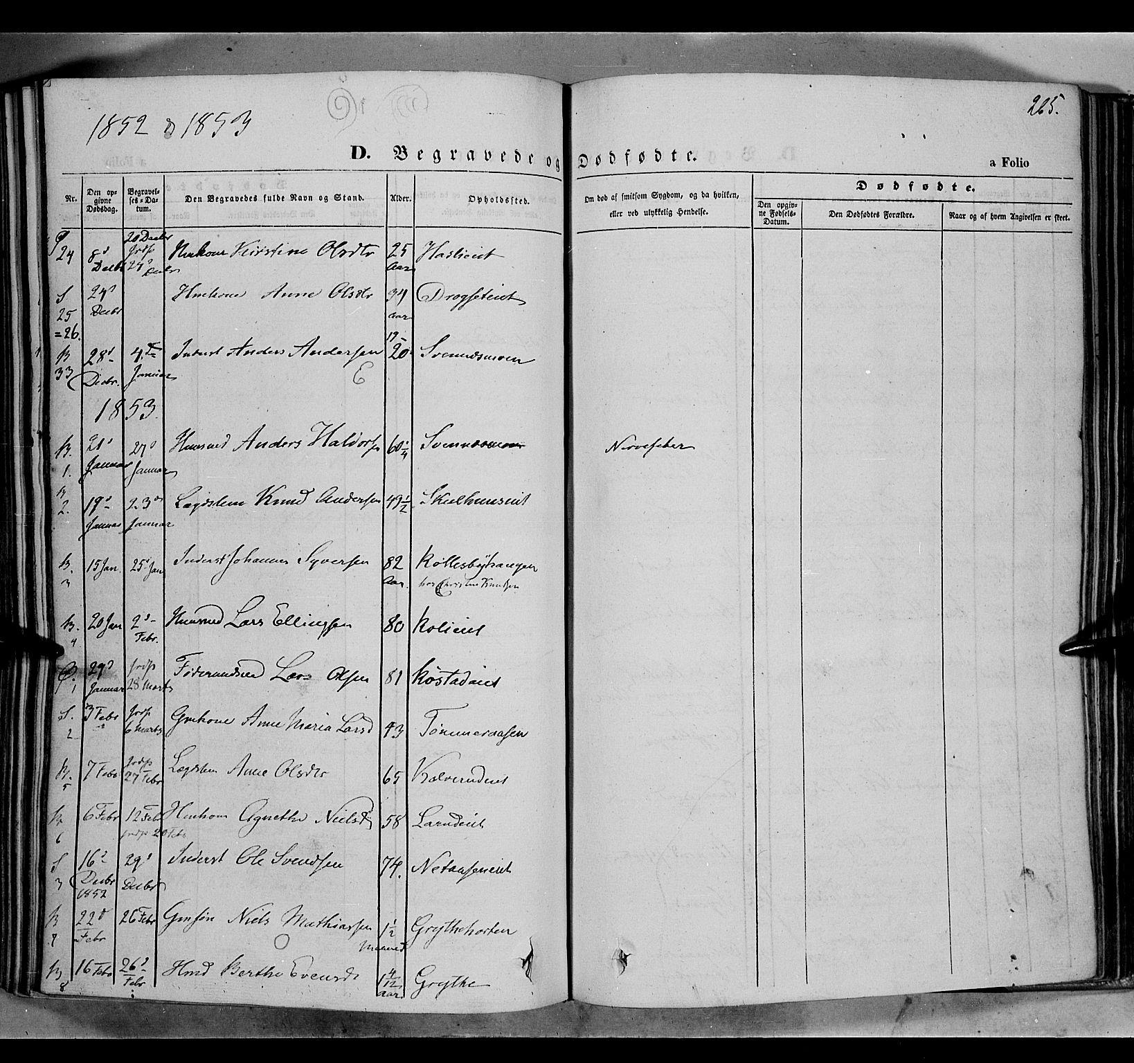 SAH, Biri prestekontor, Ministerialbok nr. 5, 1843-1854, s. 265