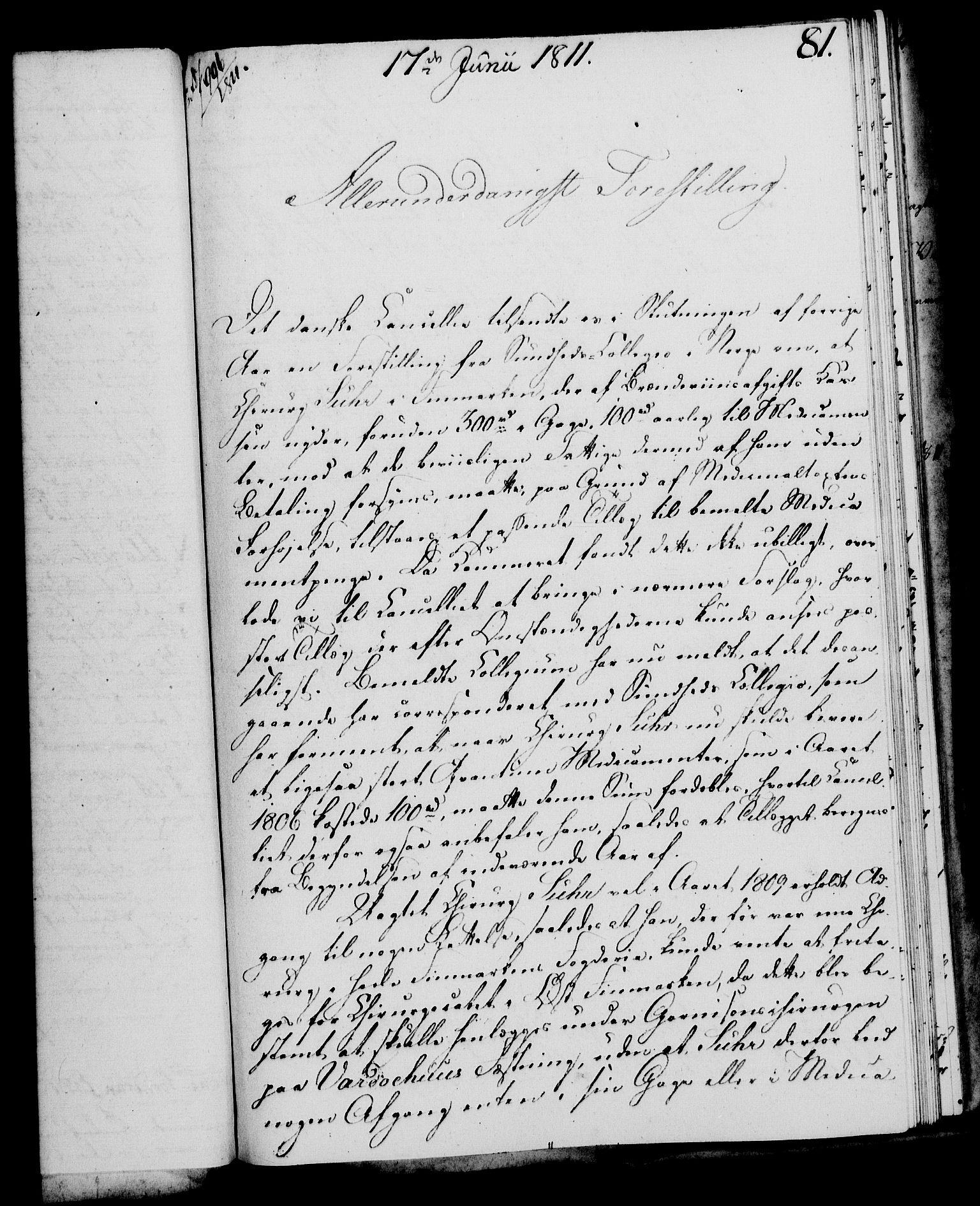RA, Rentekammeret, Kammerkanselliet, G/Gf/Gfa/L0093: Norsk relasjons- og resolusjonsprotokoll (merket RK 52.93), 1811, s. 319