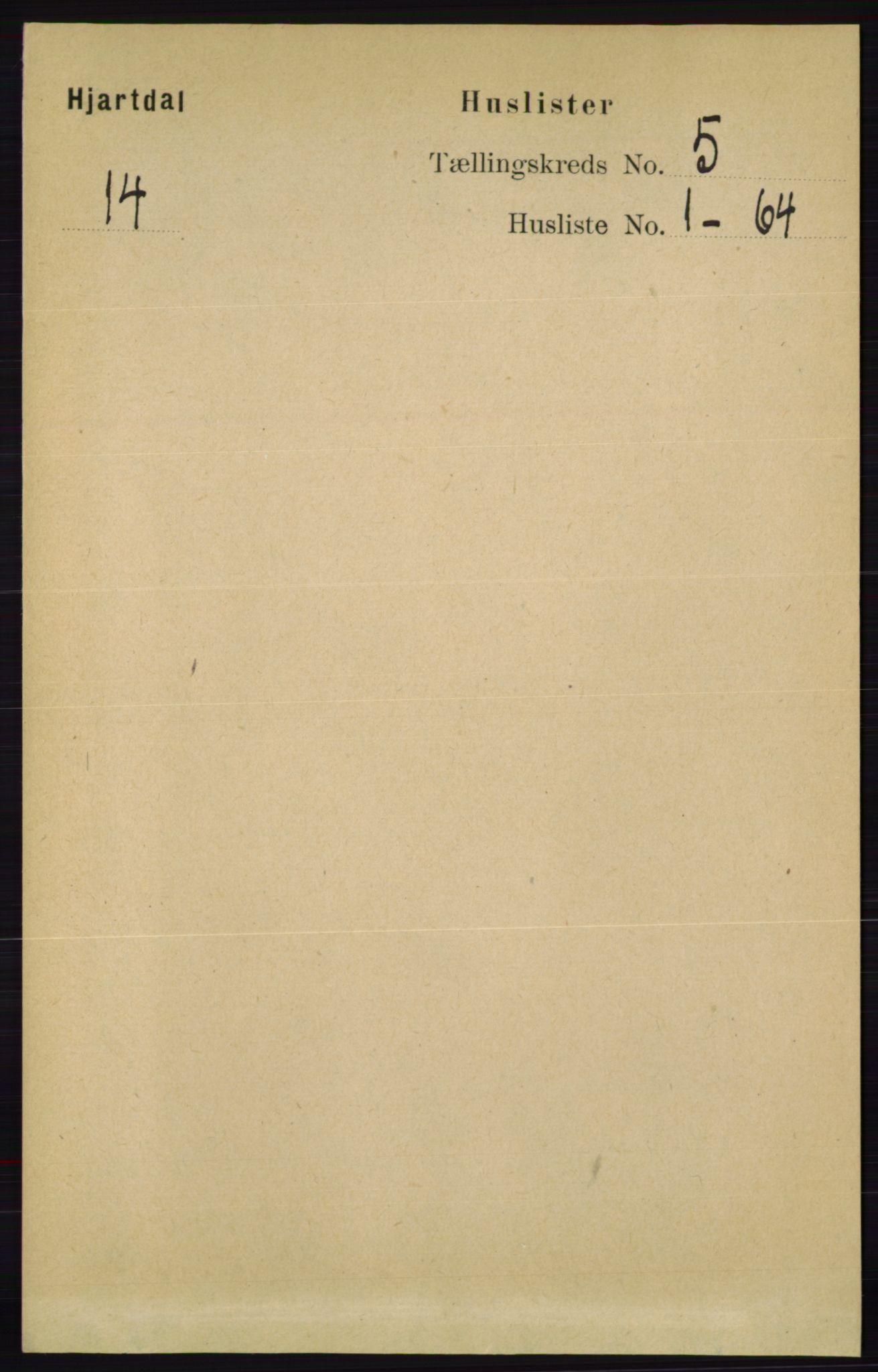 RA, Folketelling 1891 for 0827 Hjartdal herred, 1891, s. 1743