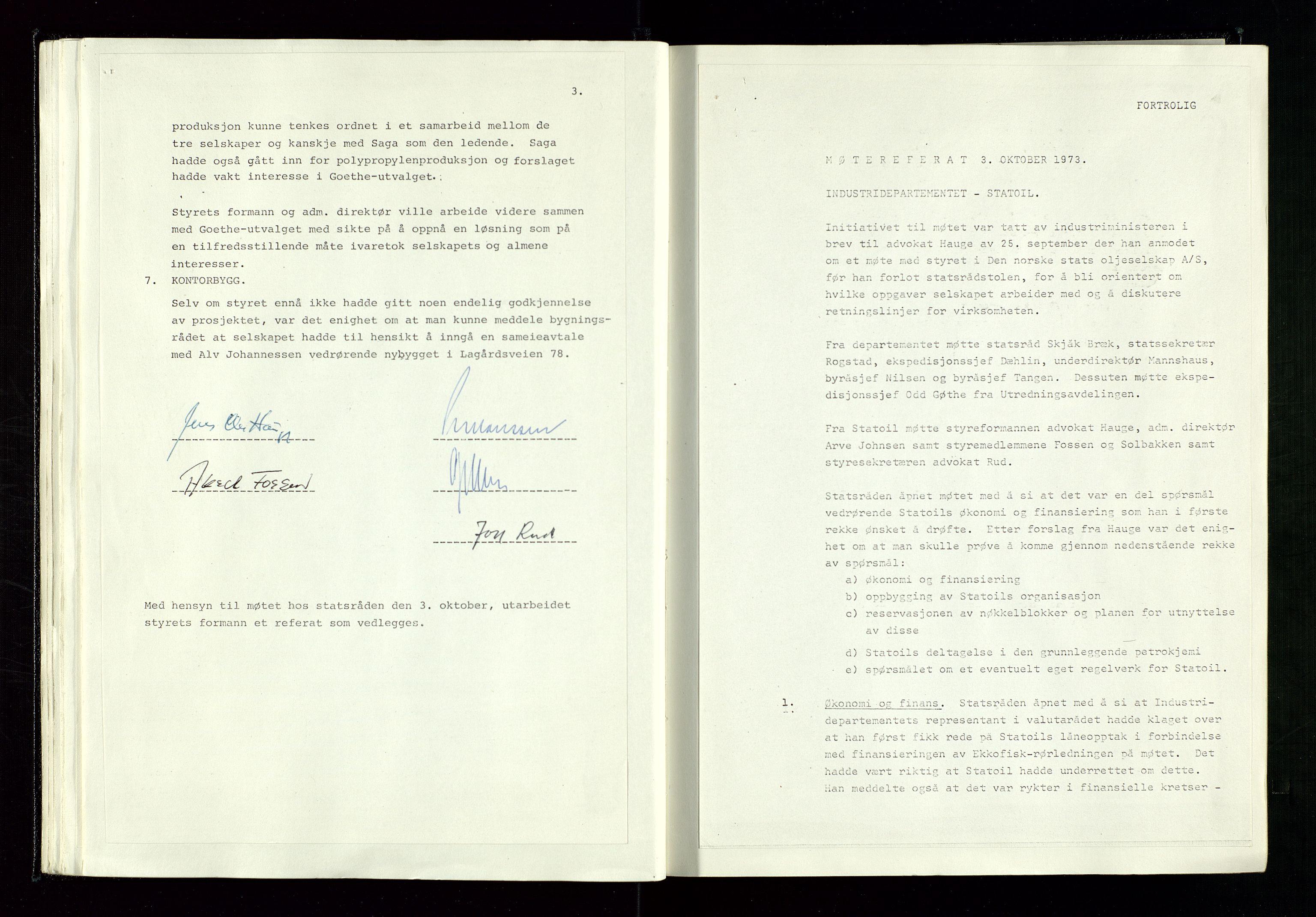 SAST, Pa 1339 - Statoil ASA, A/Ab/Aba/L0001: Styremøteprotokoller, 05.10.1972 til 14.12.1978, 1972-1978, s. 34