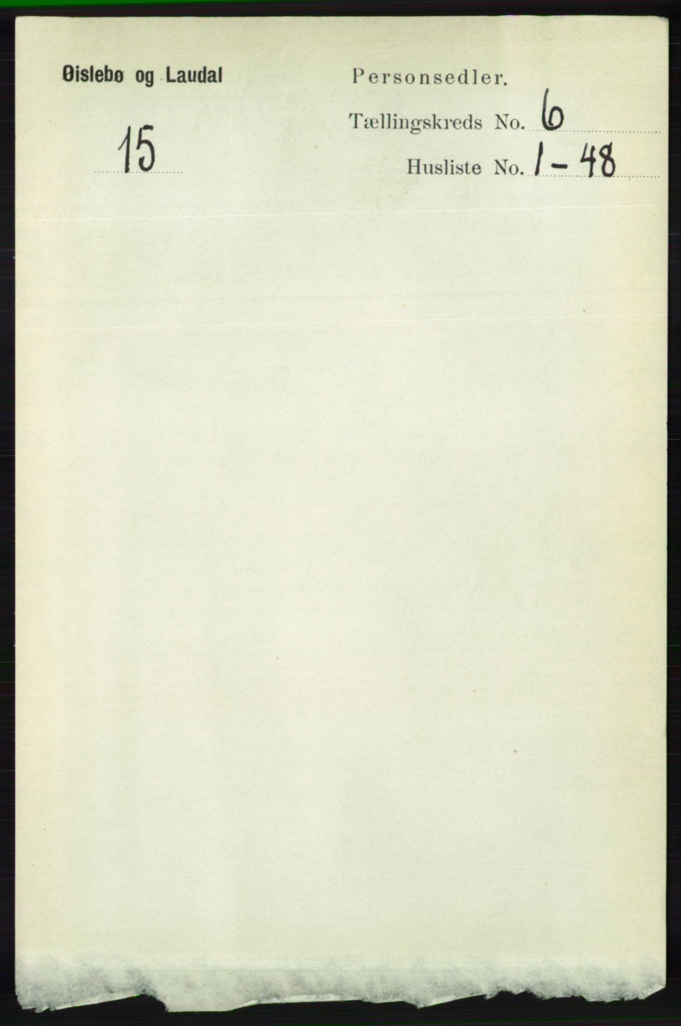 RA, Folketelling 1891 for 1021 Øyslebø og Laudal herred, 1891, s. 1695
