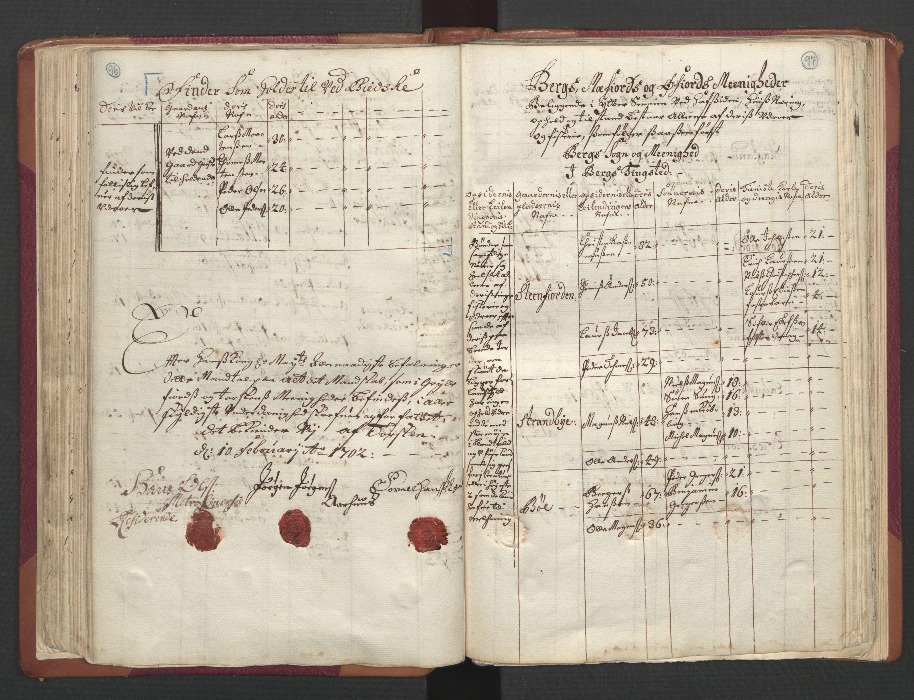 RA, Manntallet 1701, nr. 19: Senja og Tromsø fogderi, 1701, s. 96-97