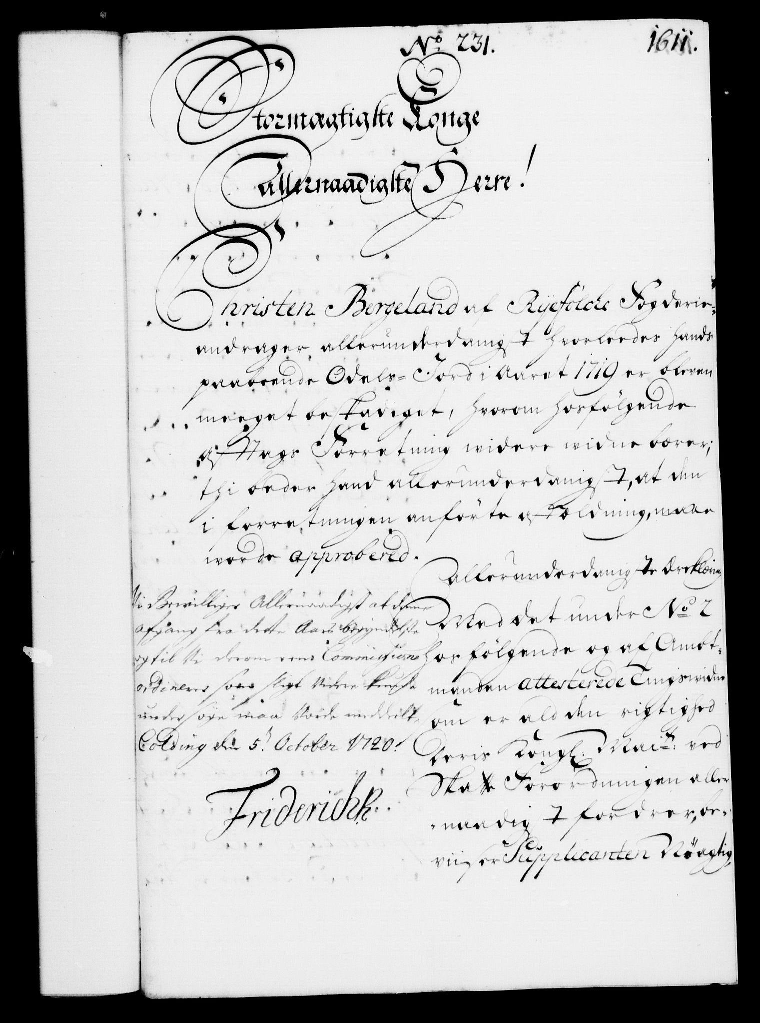 RA, Rentekammeret, Kammerkanselliet, G/Gf/Gfa/L0003: Norsk relasjons- og resolusjonsprotokoll (merket RK 52.3), 1720, s. 588