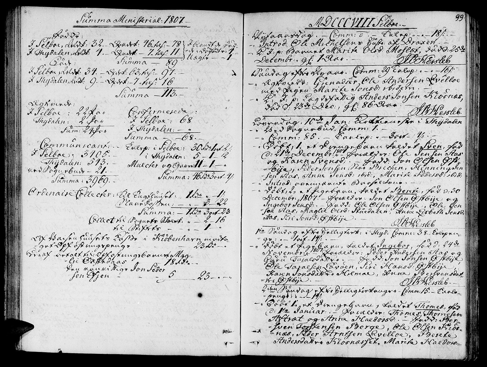 SAT, Ministerialprotokoller, klokkerbøker og fødselsregistre - Sør-Trøndelag, 695/L1140: Ministerialbok nr. 695A03, 1801-1815, s. 99