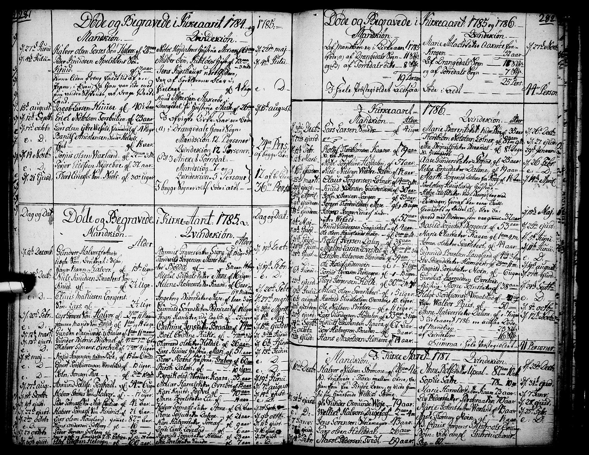 SAKO, Drangedal kirkebøker, F/Fa/L0003: Ministerialbok nr. 3, 1768-1814, s. 281-282