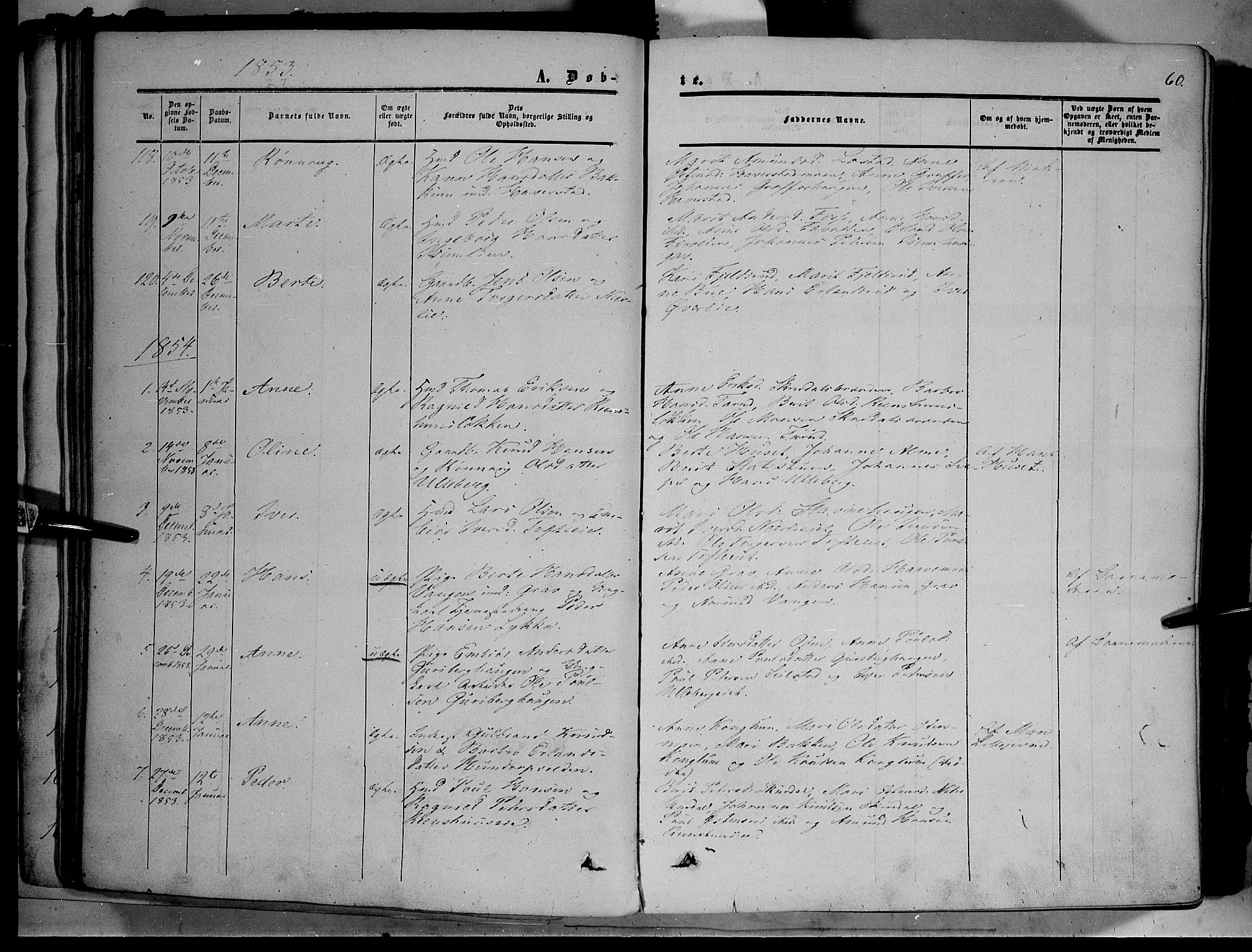 SAH, Sør-Fron prestekontor, H/Ha/Haa/L0001: Ministerialbok nr. 1, 1849-1863, s. 60