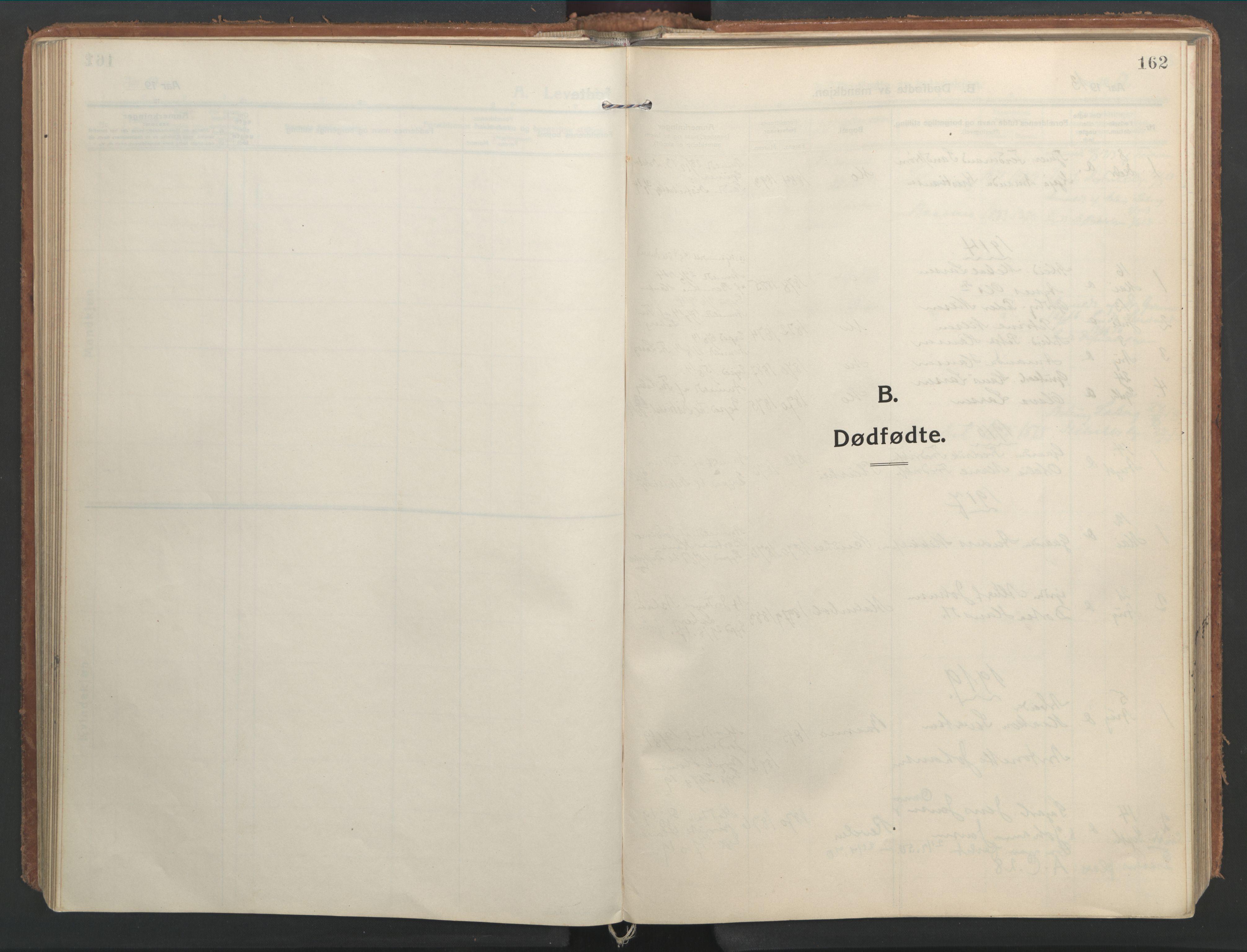 SAT, Ministerialprotokoller, klokkerbøker og fødselsregistre - Nordland, 827/L0404: Ministerialbok nr. 827A16, 1912-1925, s. 162