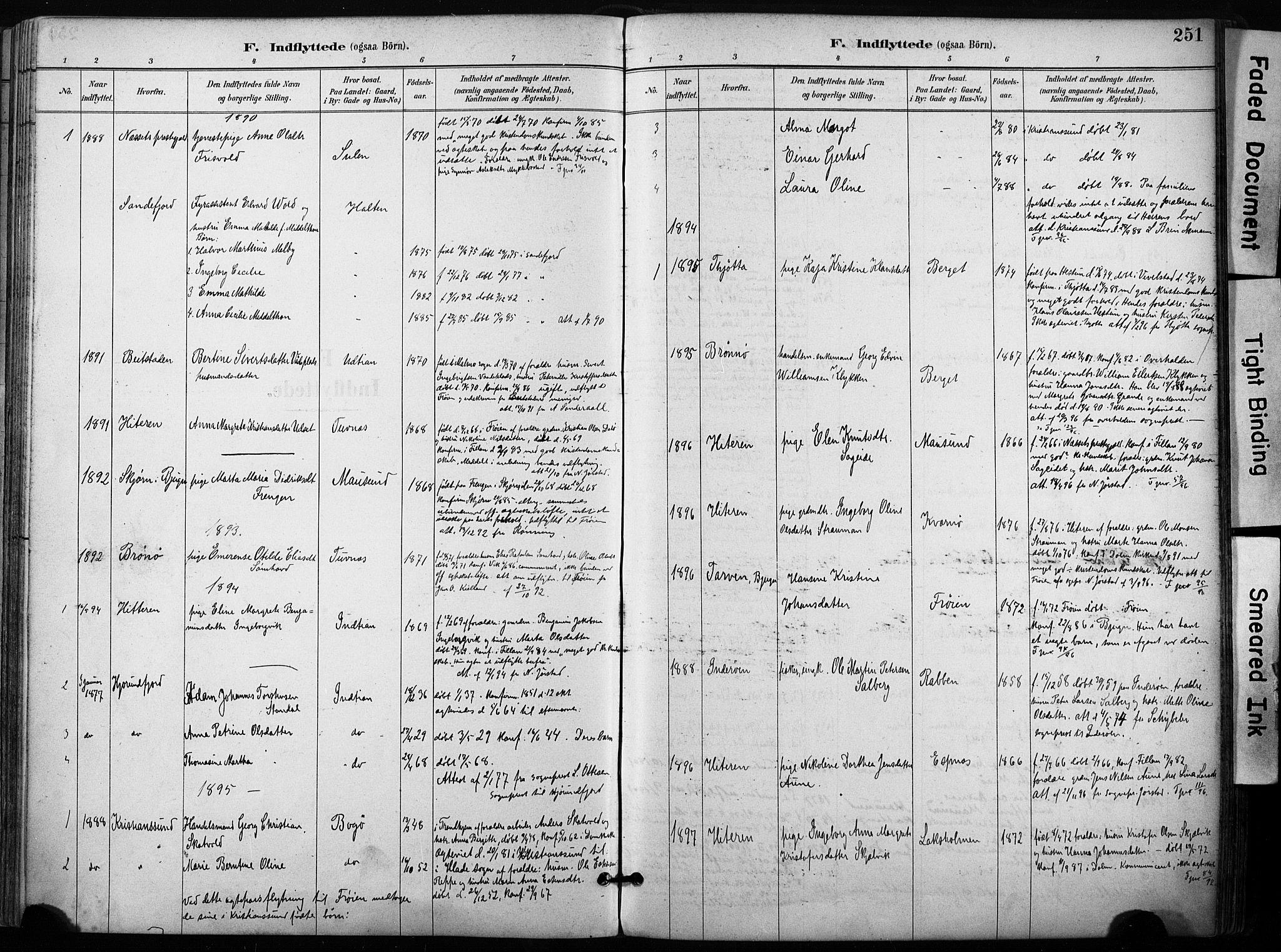 SAT, Ministerialprotokoller, klokkerbøker og fødselsregistre - Sør-Trøndelag, 640/L0579: Ministerialbok nr. 640A04, 1889-1902, s. 251