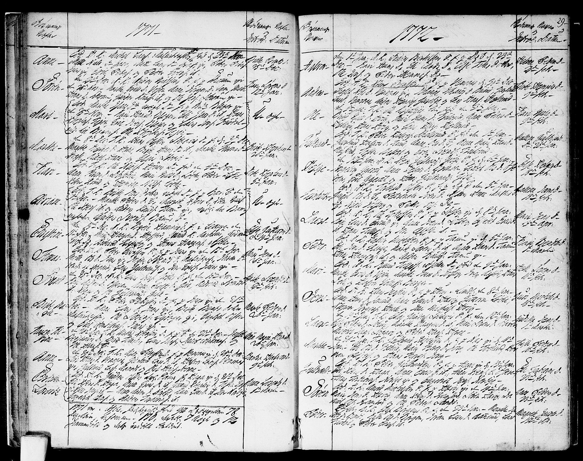 SAO, Asker prestekontor Kirkebøker, F/Fa/L0003: Ministerialbok nr. I 3, 1767-1807, s. 29