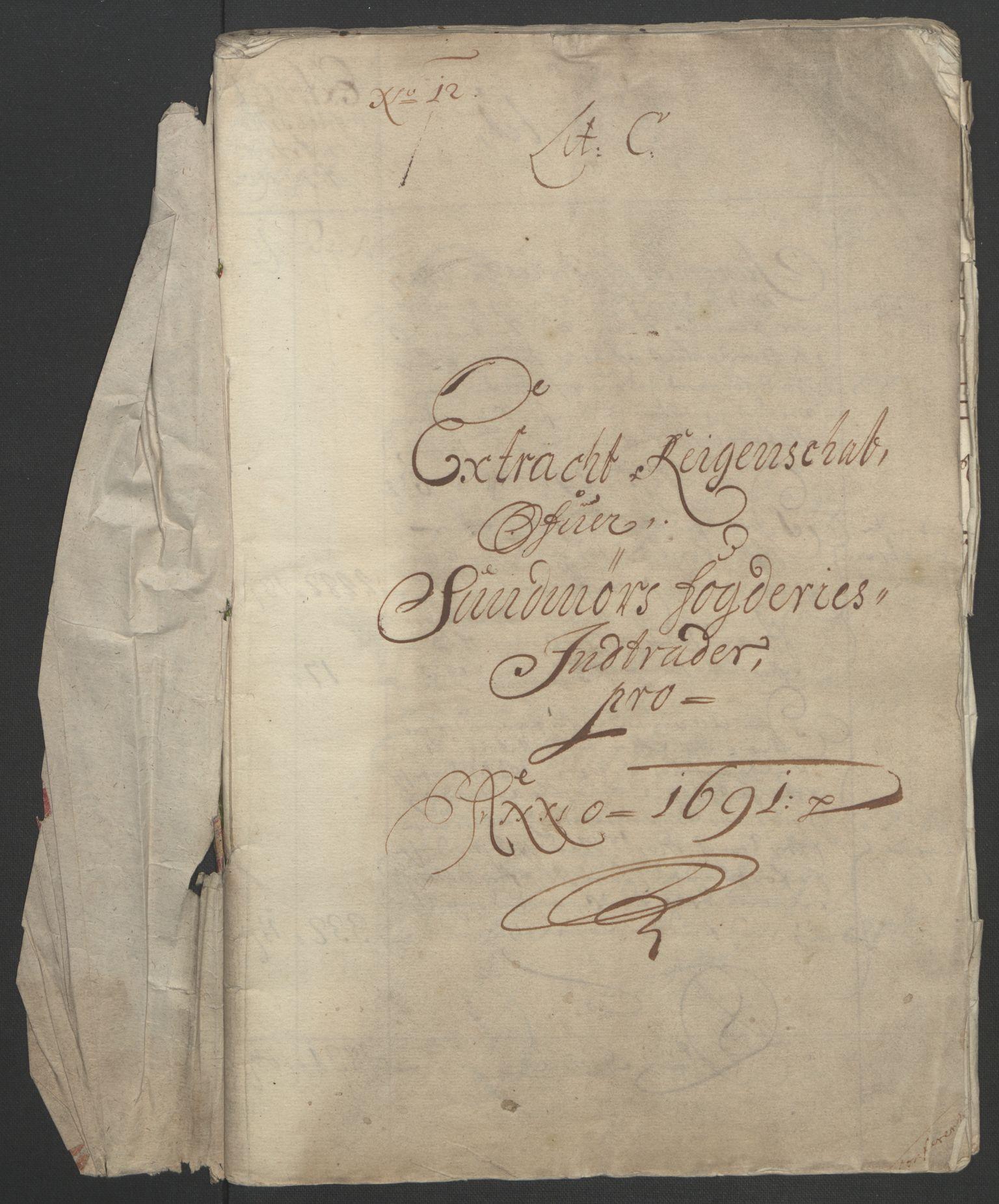 RA, Rentekammeret inntil 1814, Reviderte regnskaper, Fogderegnskap, R54/L3554: Fogderegnskap Sunnmøre, 1691-1693, s. 5