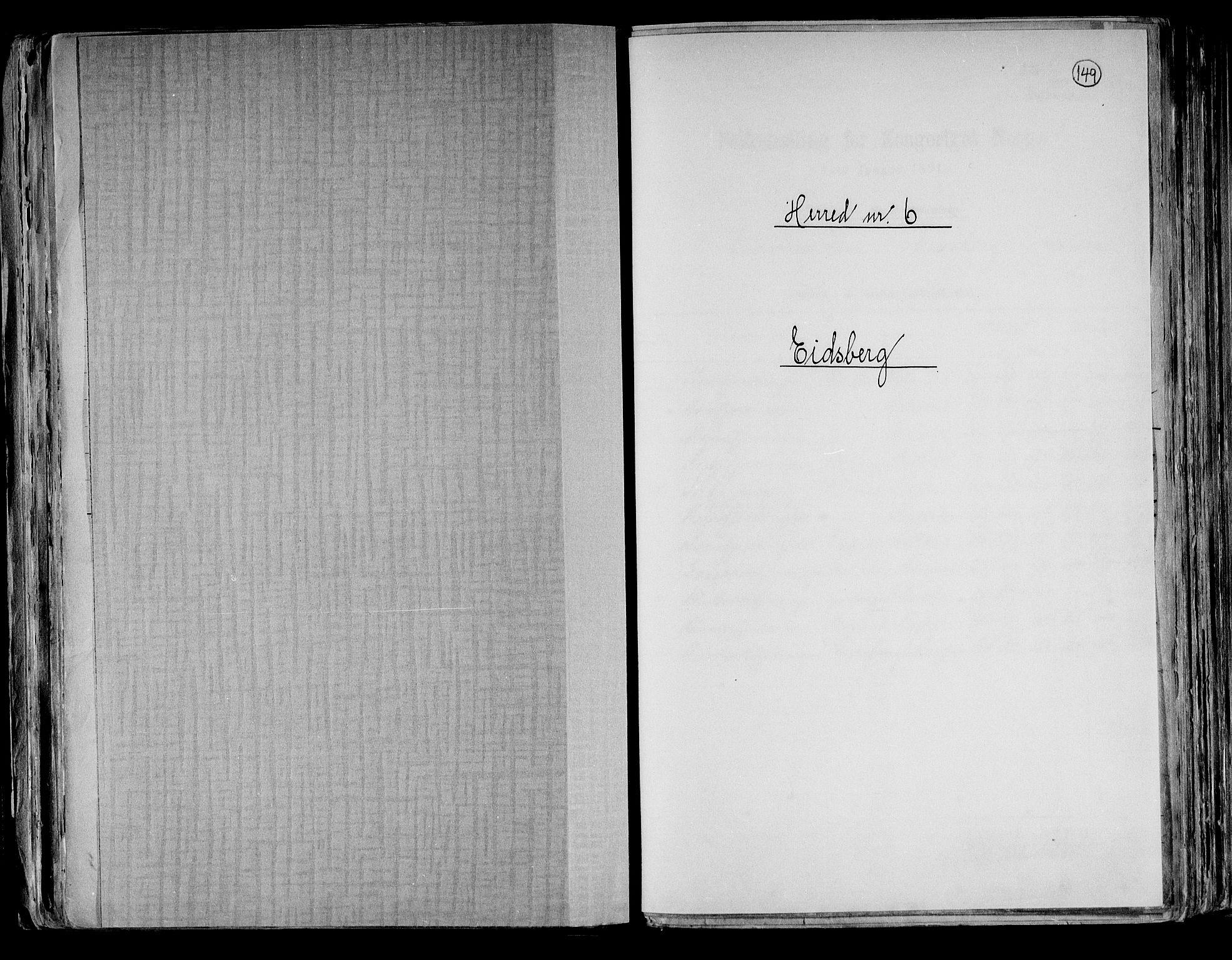 RA, Folketelling 1891 for 0125 Eidsberg herred, 1891, s. 1