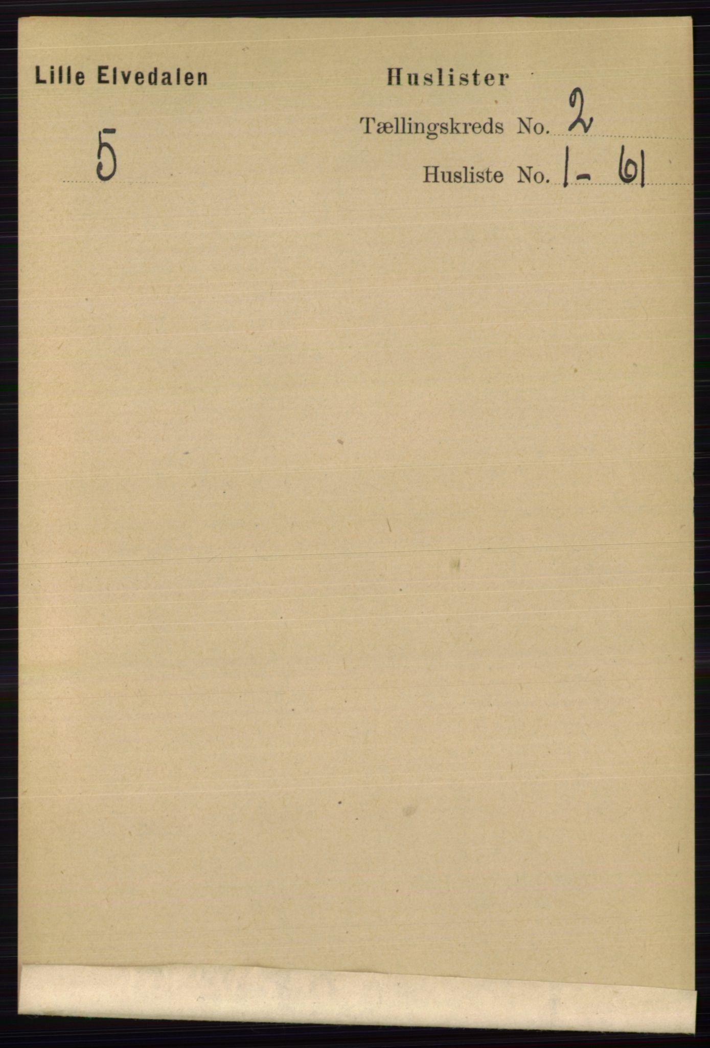 RA, Folketelling 1891 for 0438 Lille Elvedalen herred, 1891, s. 482