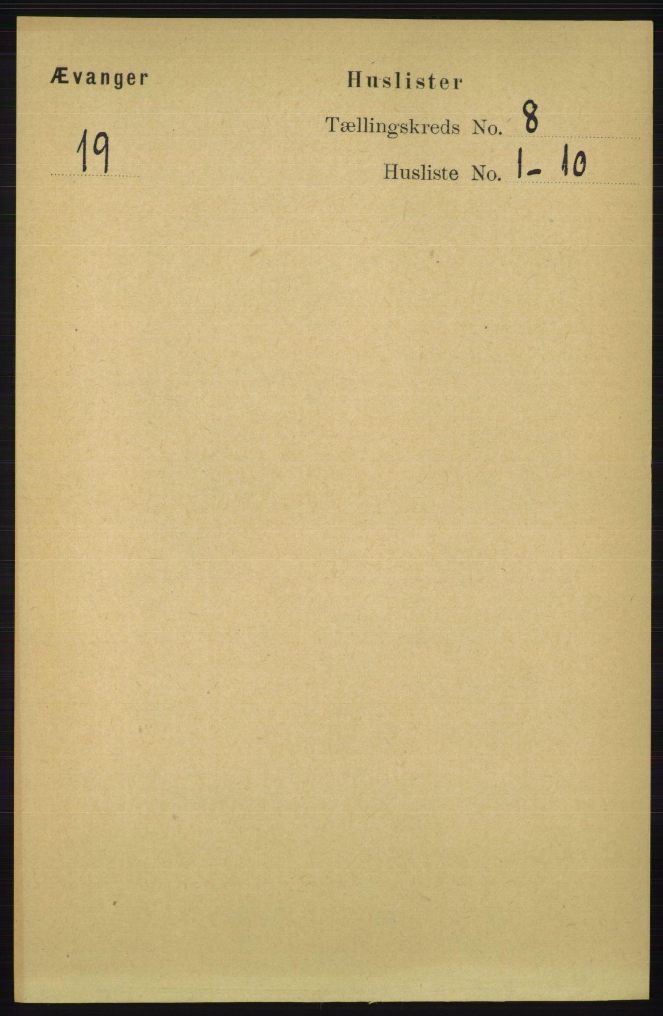 RA, Folketelling 1891 for 1237 Evanger herred, 1891, s. 2246