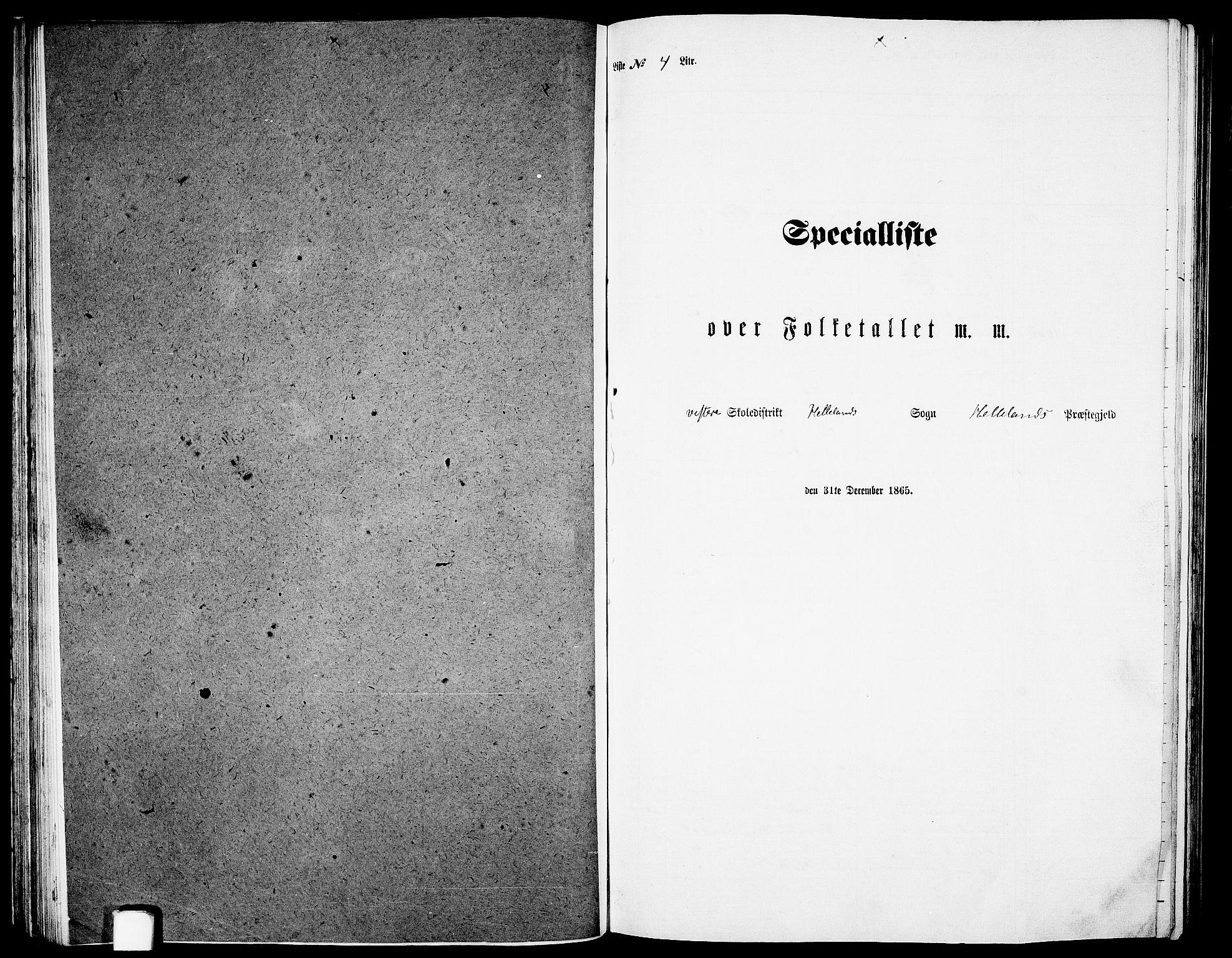 RA, Folketelling 1865 for 1115P Helleland prestegjeld, 1865, s. 54