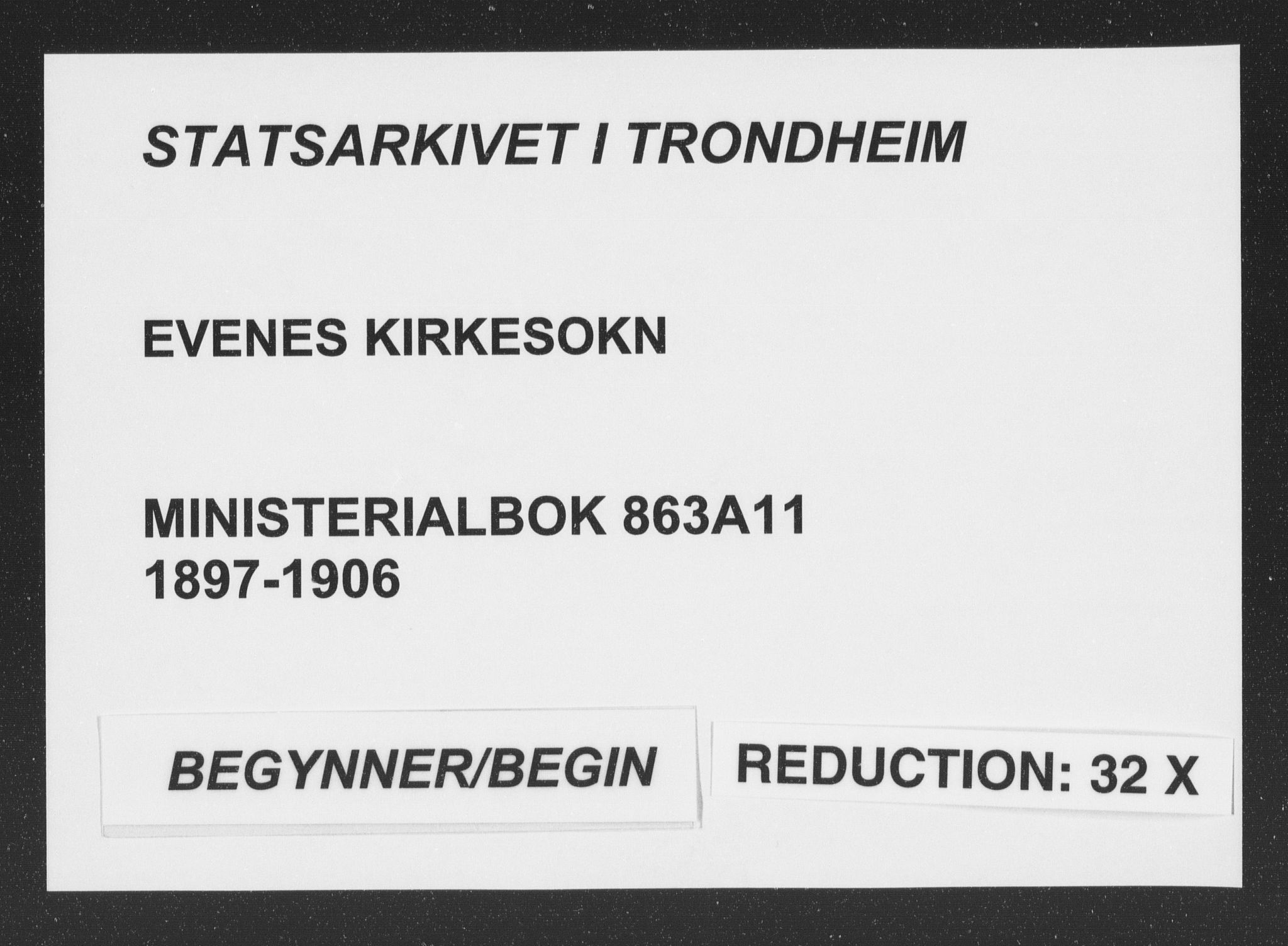 SAT, Ministerialprotokoller, klokkerbøker og fødselsregistre - Nordland, 863/L0899: Ministerialbok nr. 863A11, 1897-1906