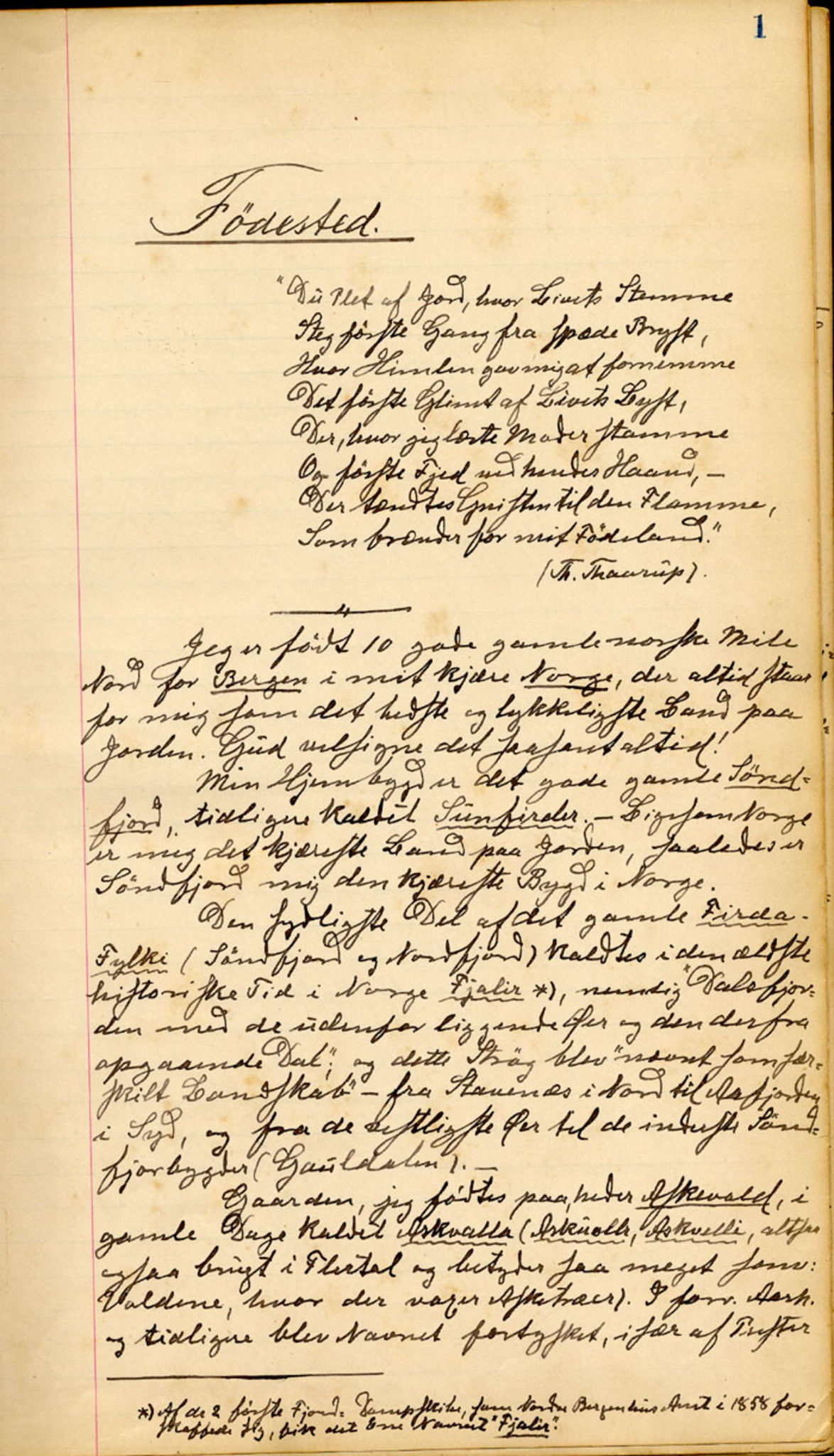 LOK, Bernt Askevolds samling (Askvoll bibliotek), 1846-1926, s. 1